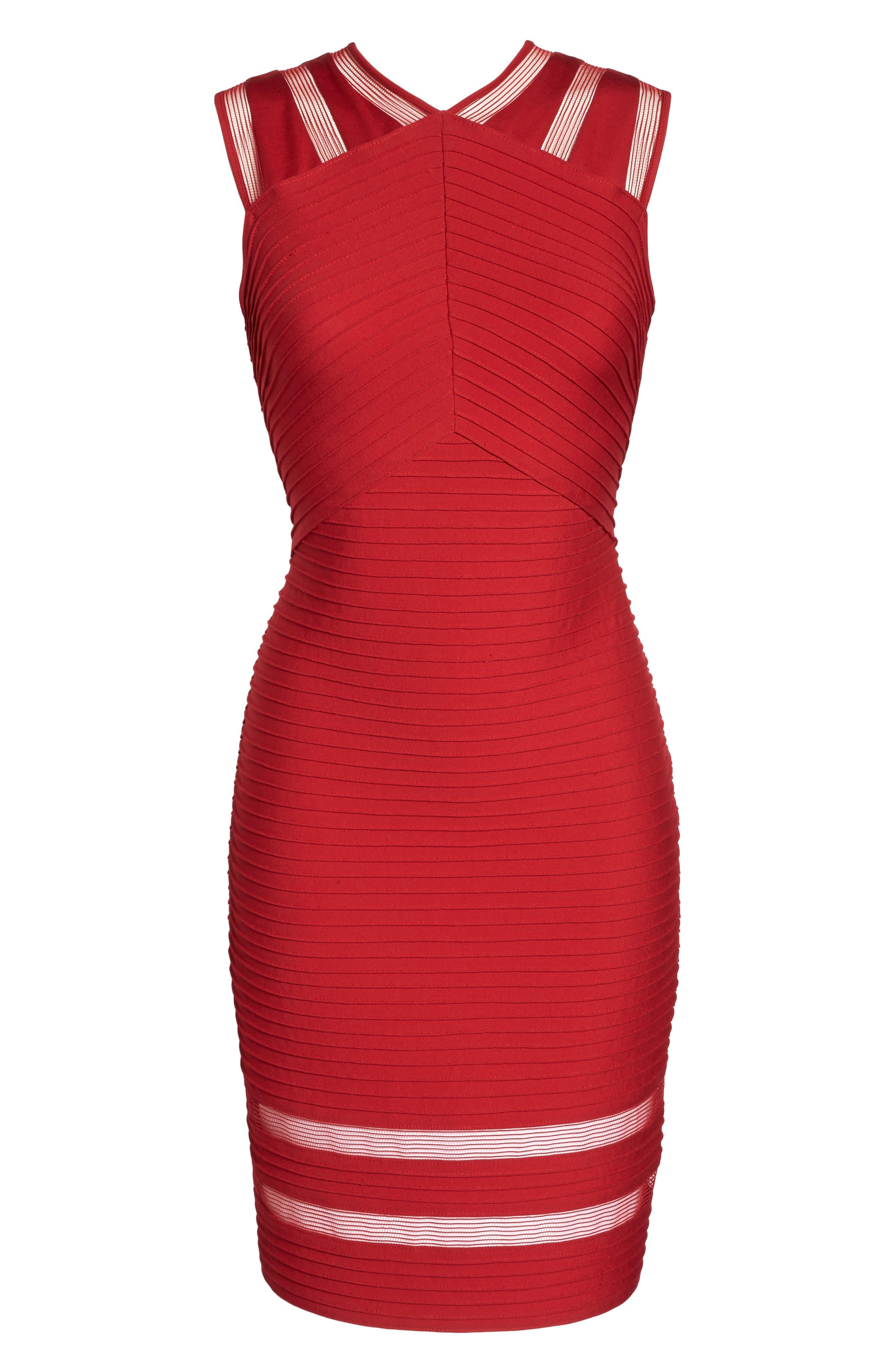Sleeveless Pintuck Dress,                             Alternate thumbnail 6, color,