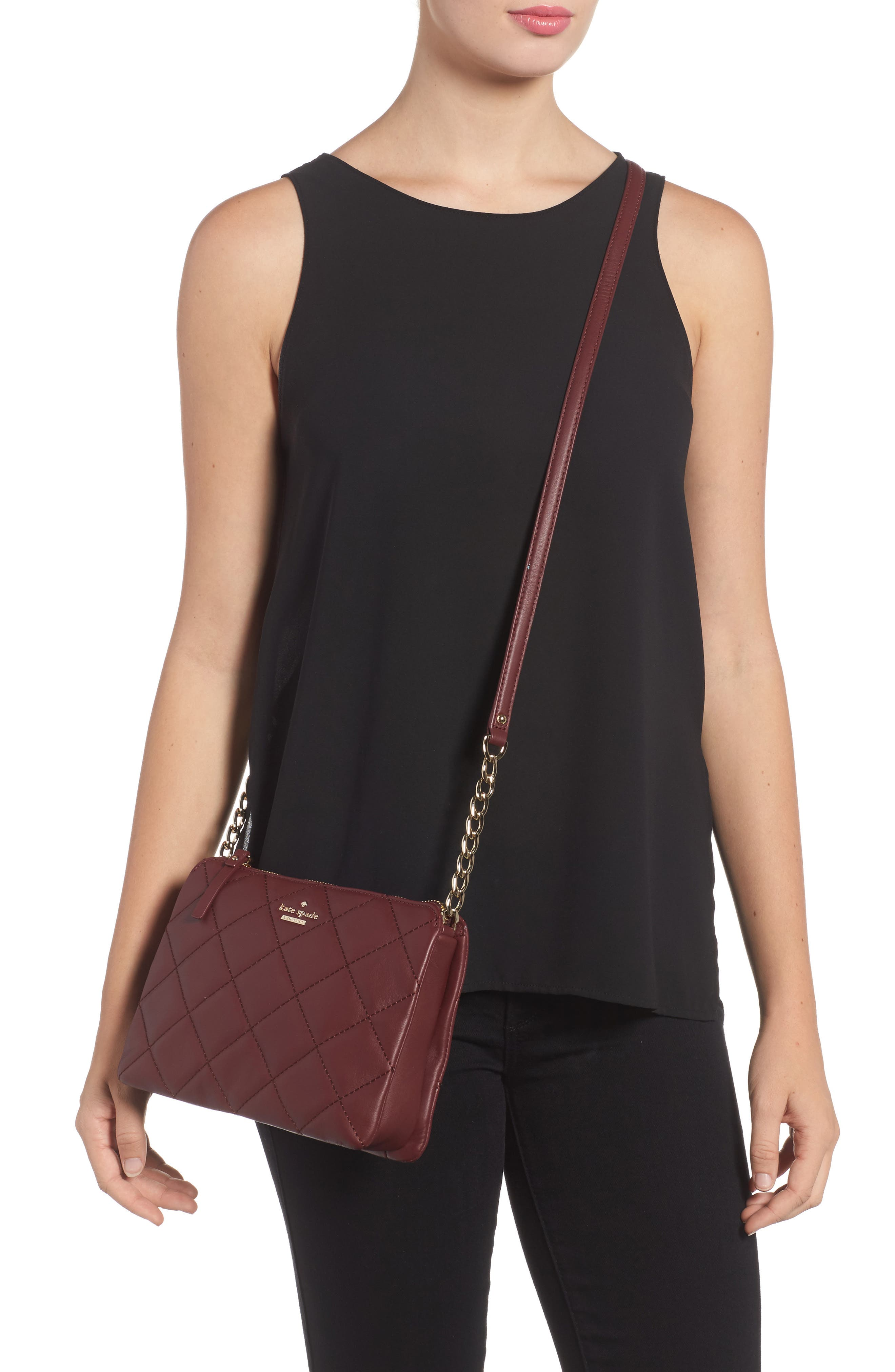 emerson place harbor leather crossbody bag,                             Alternate thumbnail 12, color,