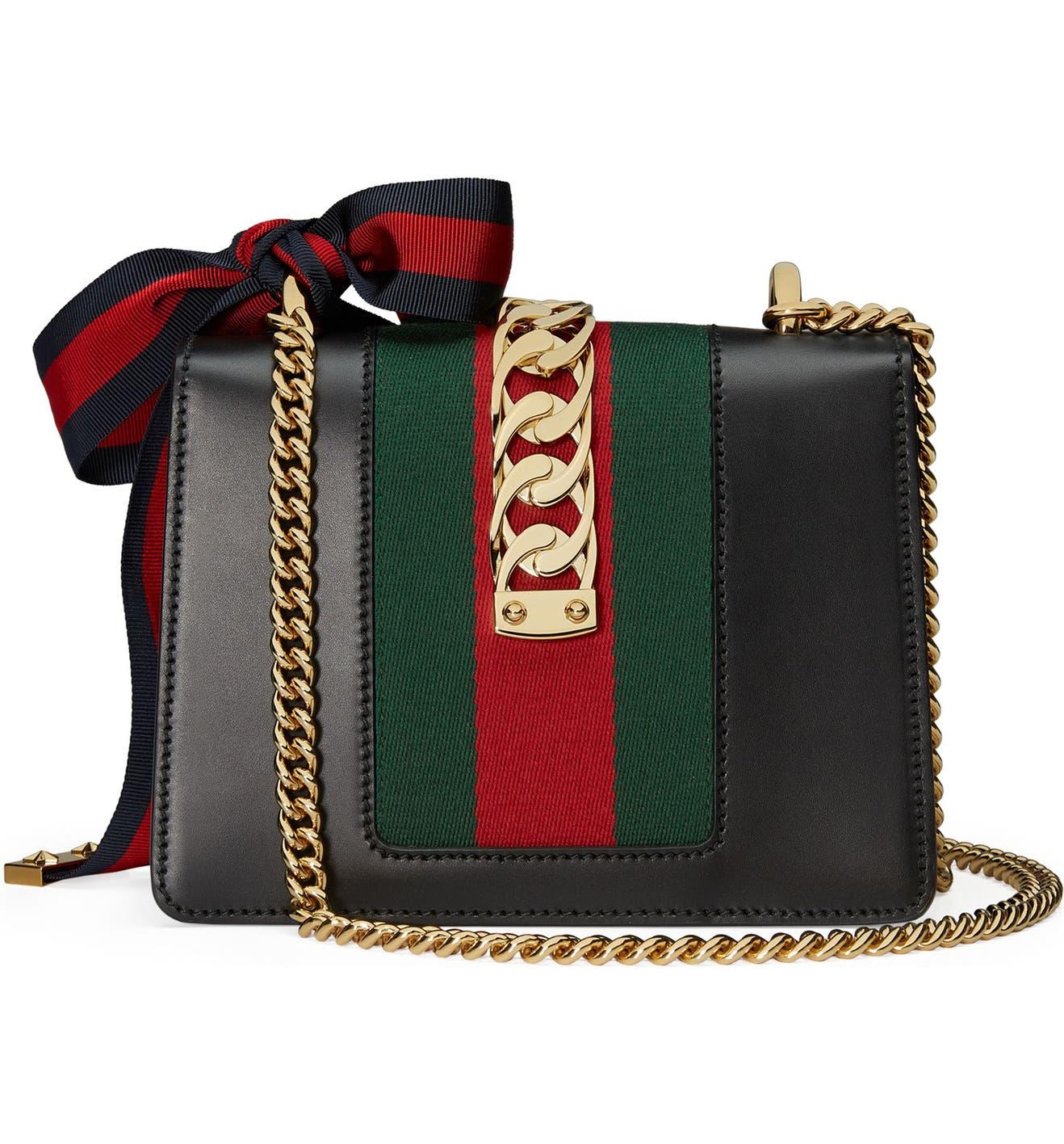 Gucci Mini Sylvie Leather Shoulder Bag  ab15714b46218
