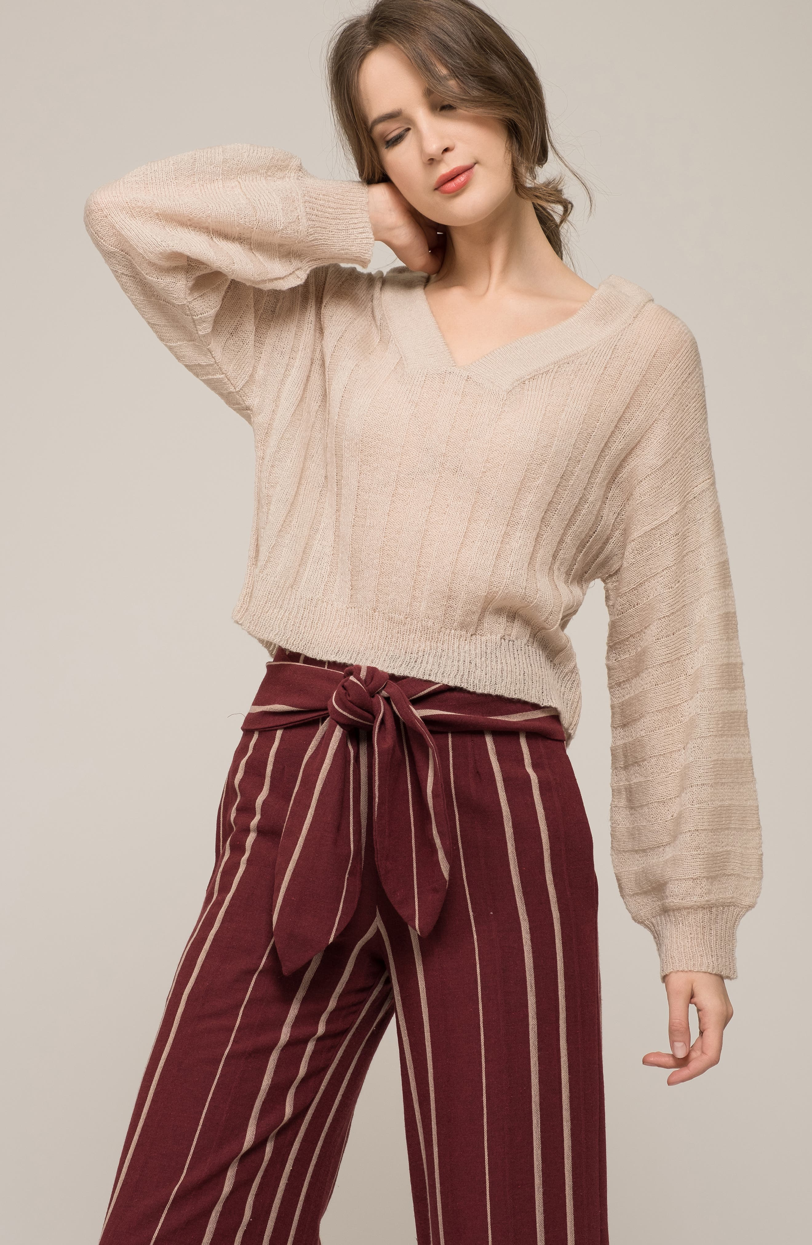 Rib Knit Sweater,                             Alternate thumbnail 7, color,                             900