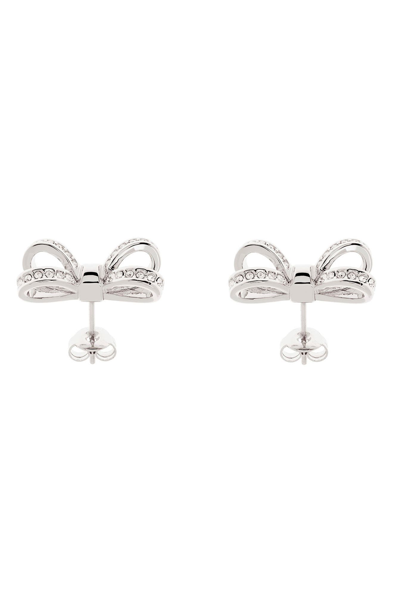Mini Opulent Pavé Bow Stud Earrings,                             Alternate thumbnail 2, color,                             041