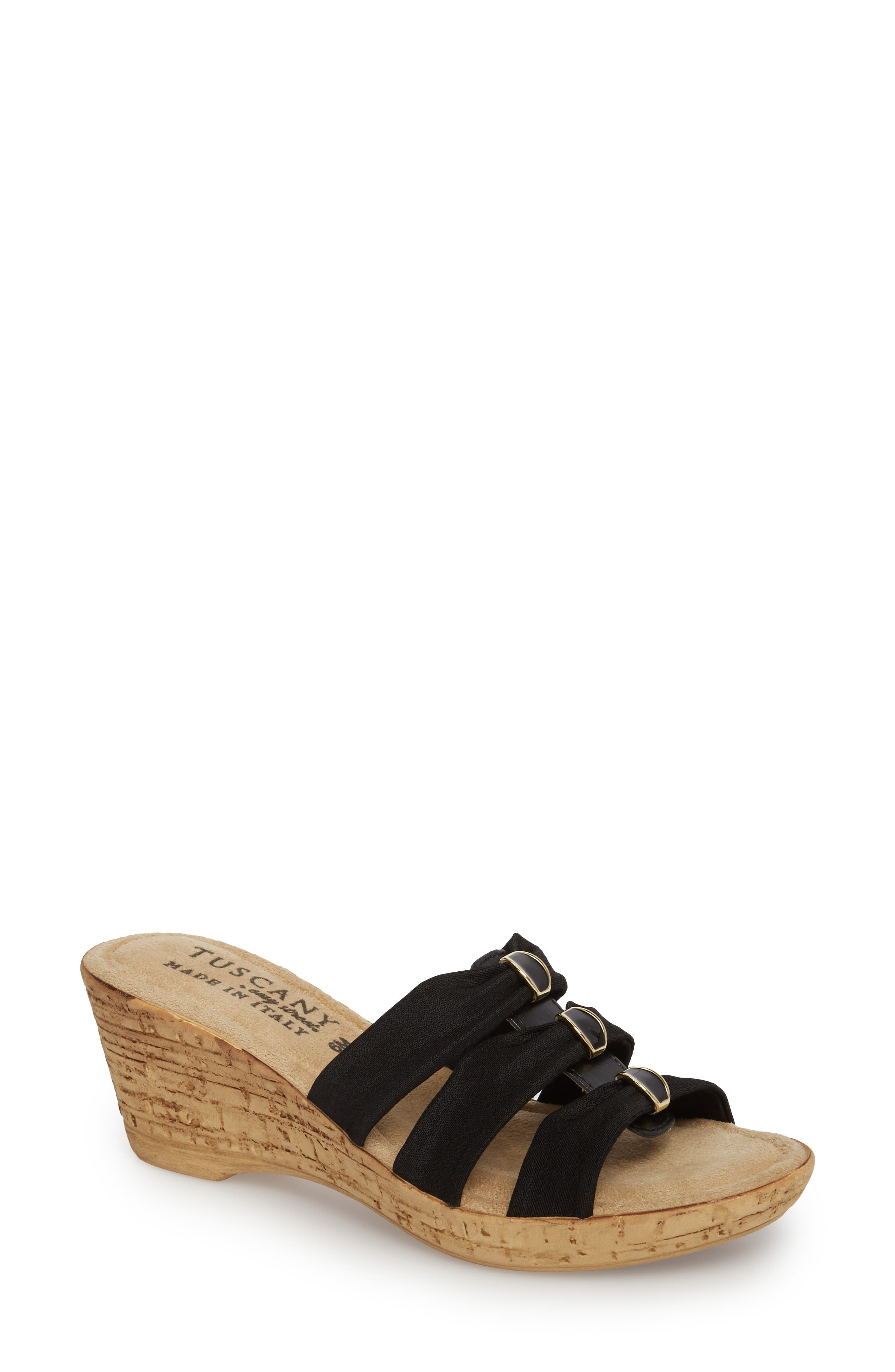 by Easy Street<sup>®</sup> Andrea Wedge Slide,                         Main,                         color, 001