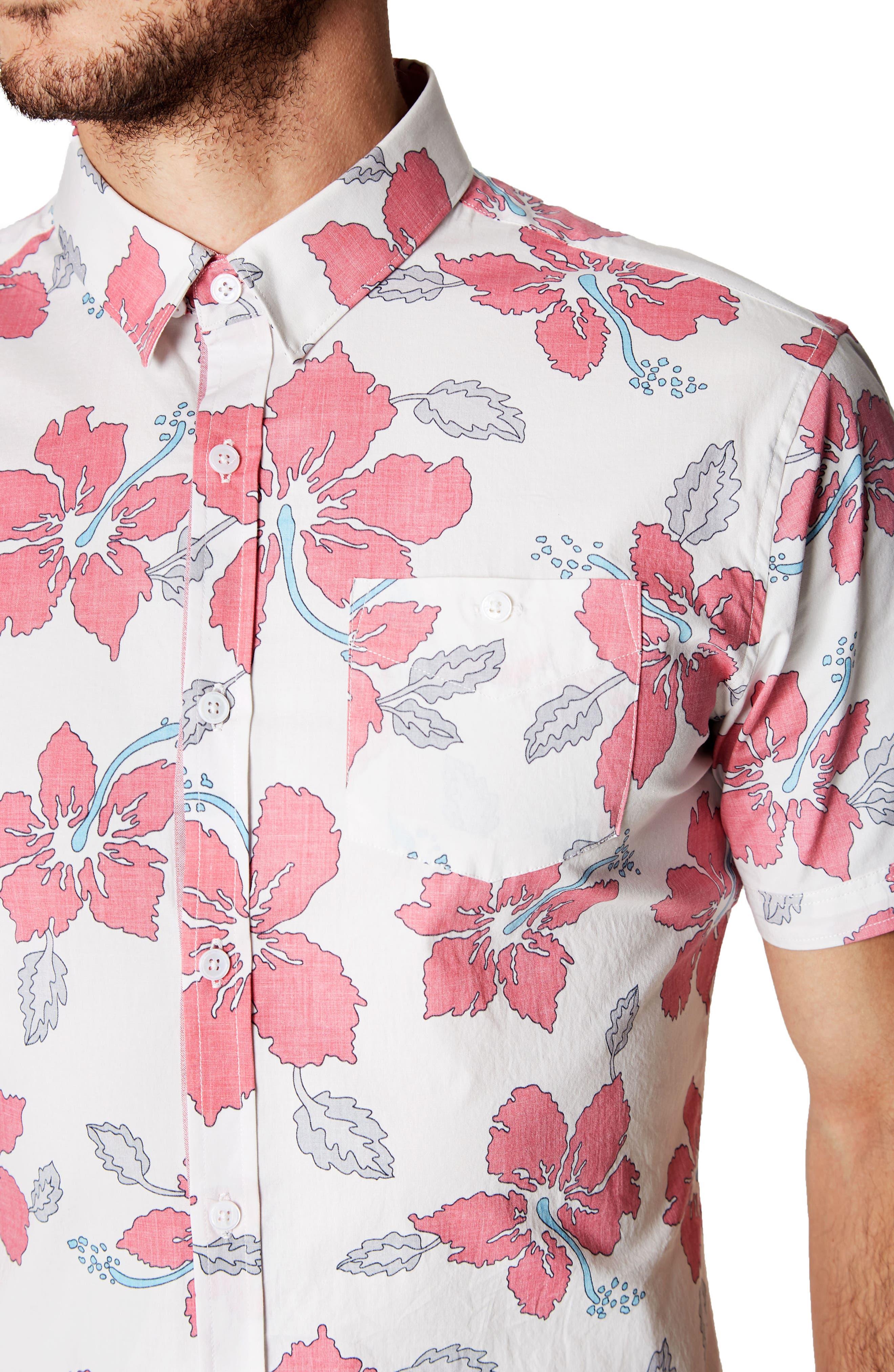 Mind Shaft Trim Fit Floral Sport Shirt,                             Alternate thumbnail 2, color,                             600