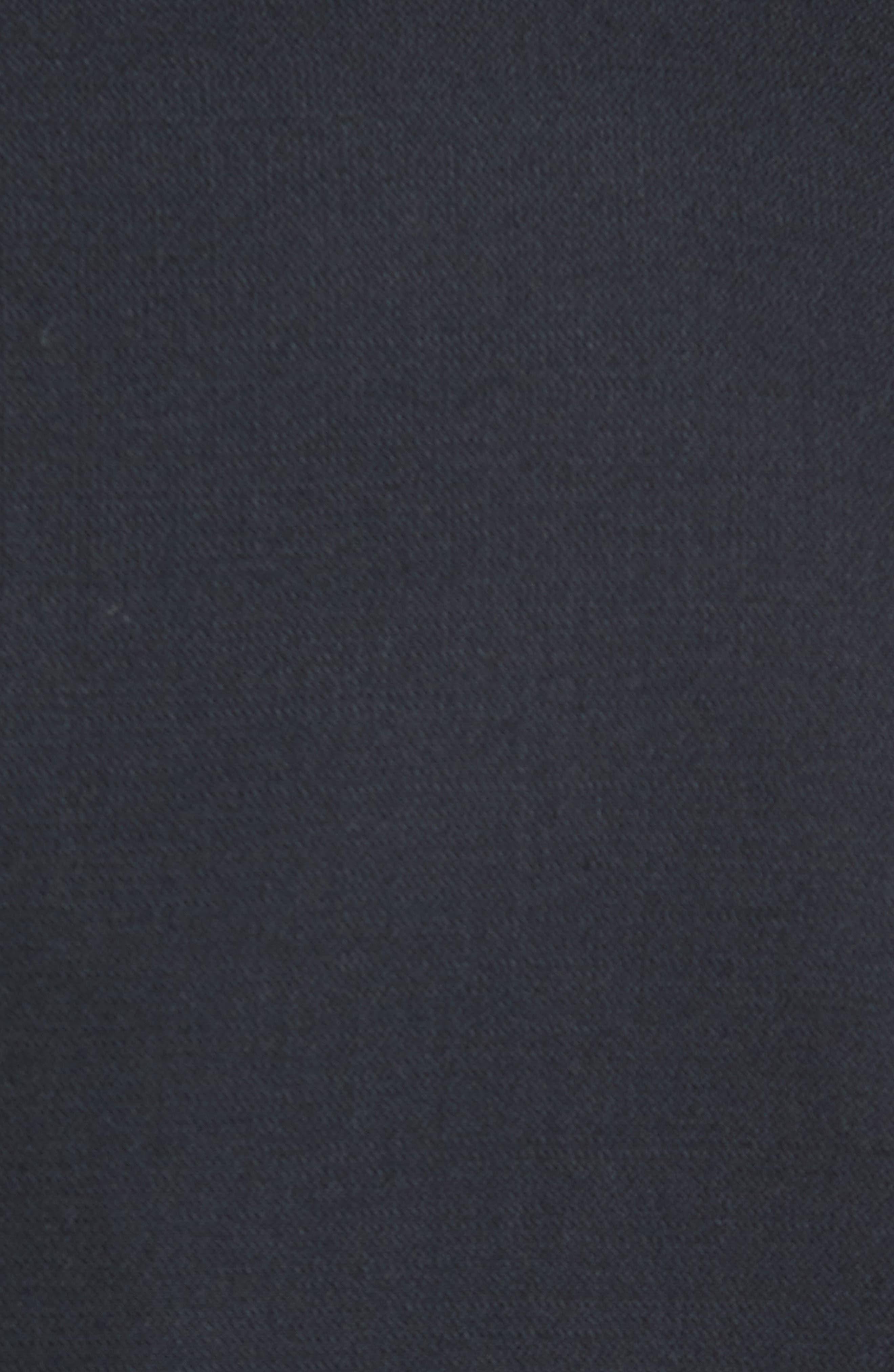 New York Classic Fit Black Wool Tuxedo,                             Alternate thumbnail 4, color,                             BLACK