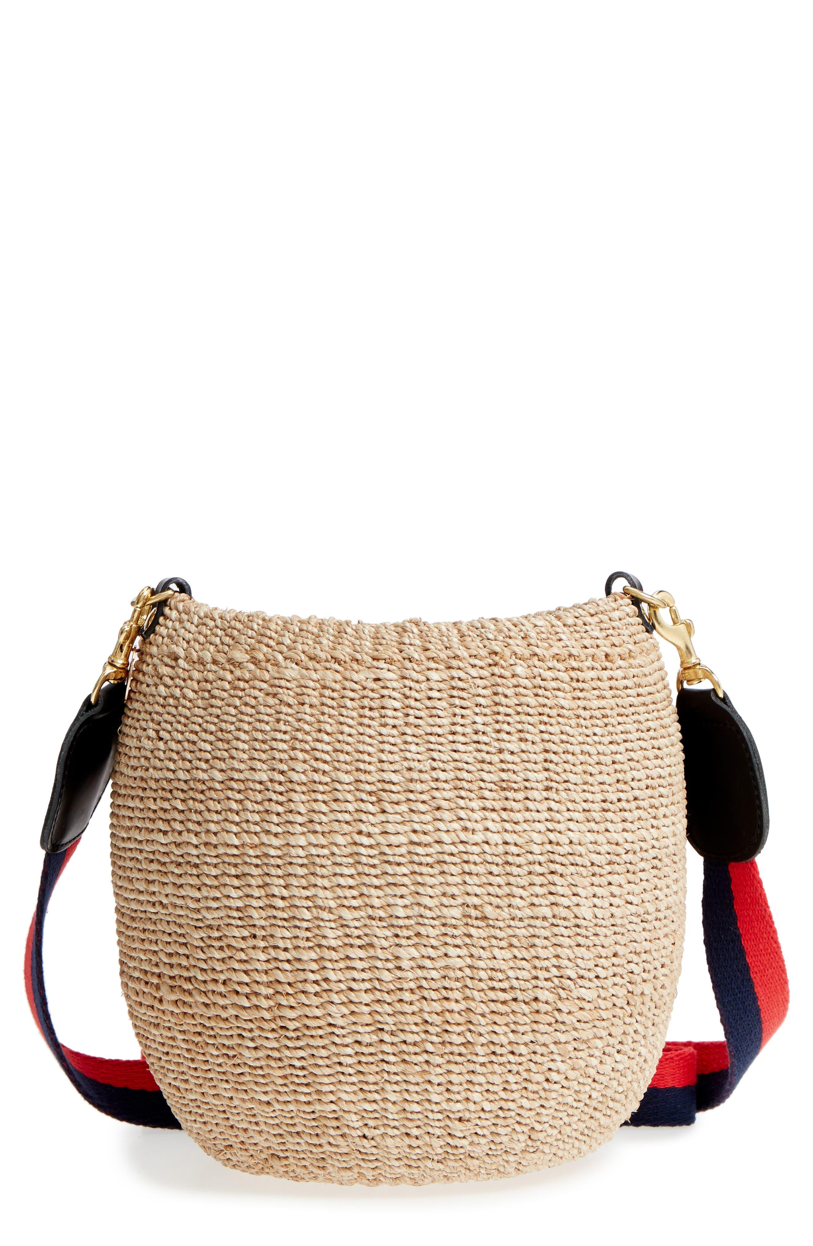 Pot de Miel Top Handle Straw Basket Bag,                             Main thumbnail 3, color,