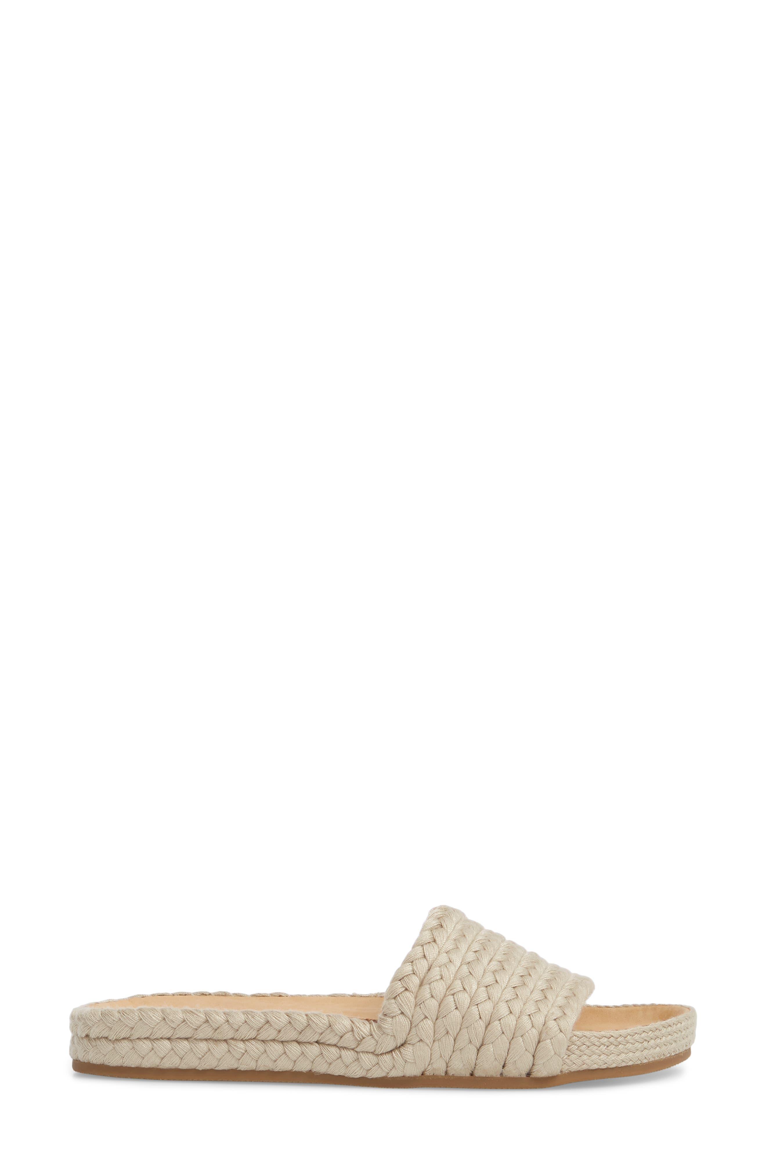 Braided Slide Sandal,                             Alternate thumbnail 3, color,                             250