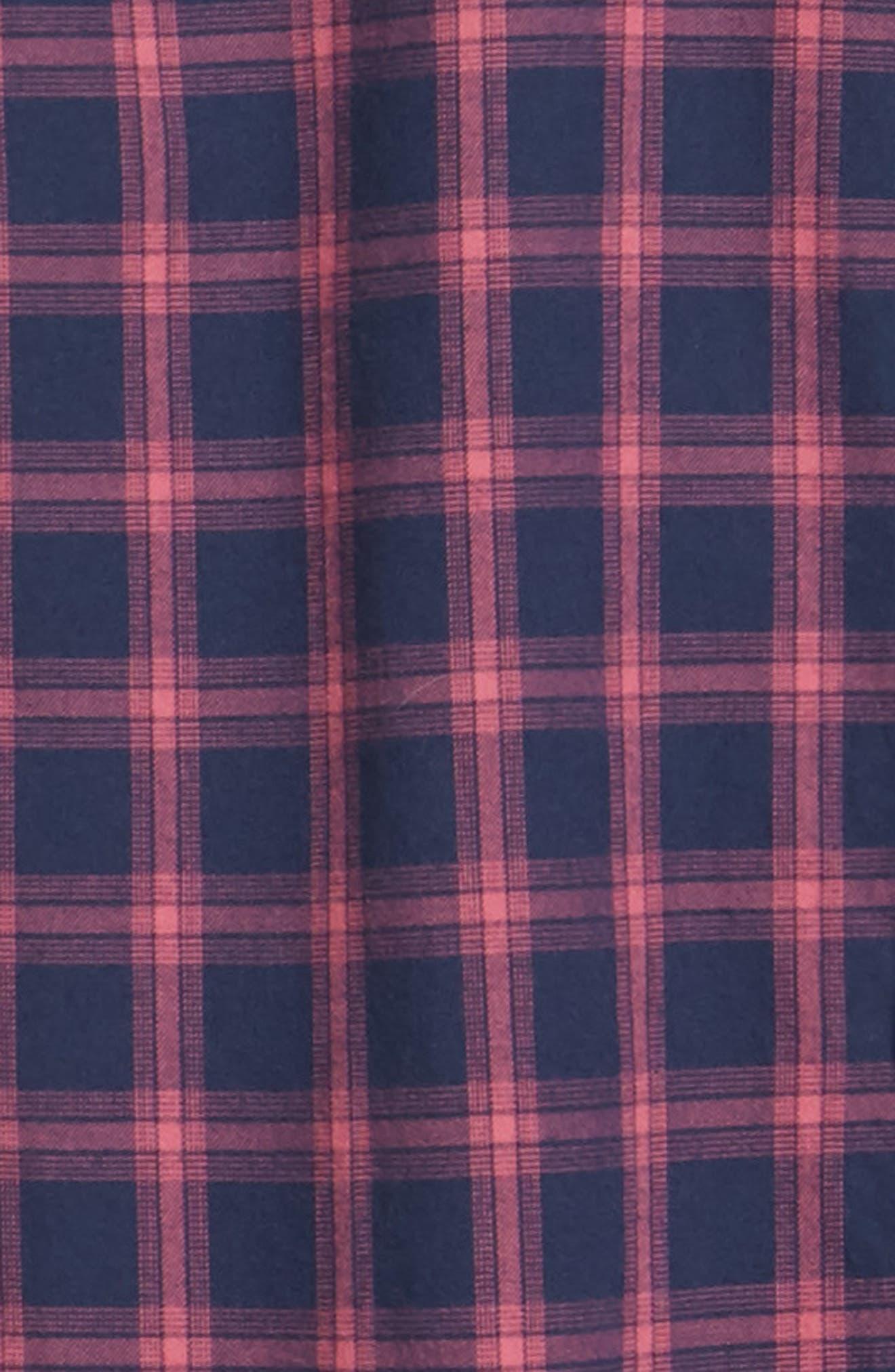 Slim Fit Brushed Twill Sport Shirt,                             Alternate thumbnail 6, color,                             ELLIS CHECK - MALAGA