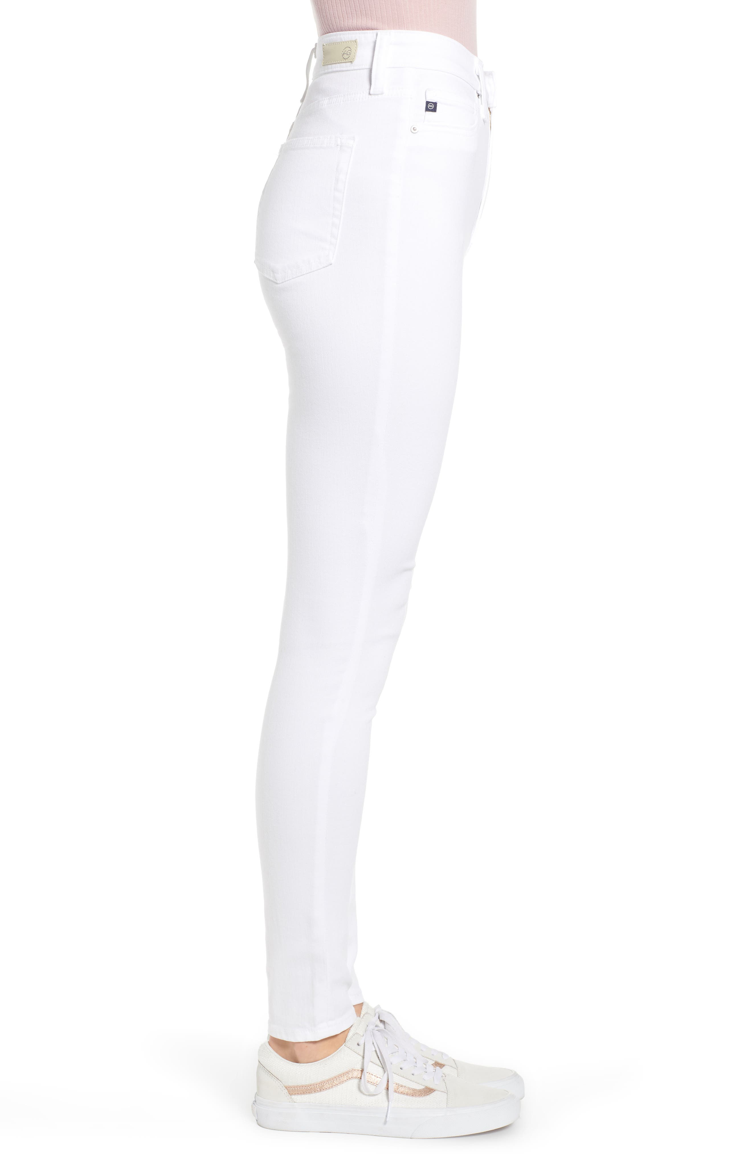AG,                             The Mila Super High Waist Ankle Skinny Jeans,                             Alternate thumbnail 4, color,                             110