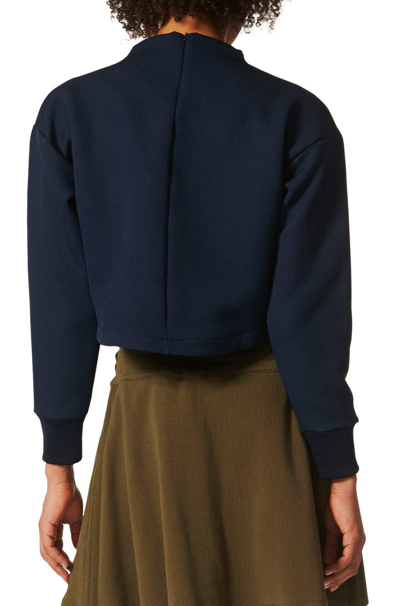 Crop Sweatshirt,                             Alternate thumbnail 2, color,                             408