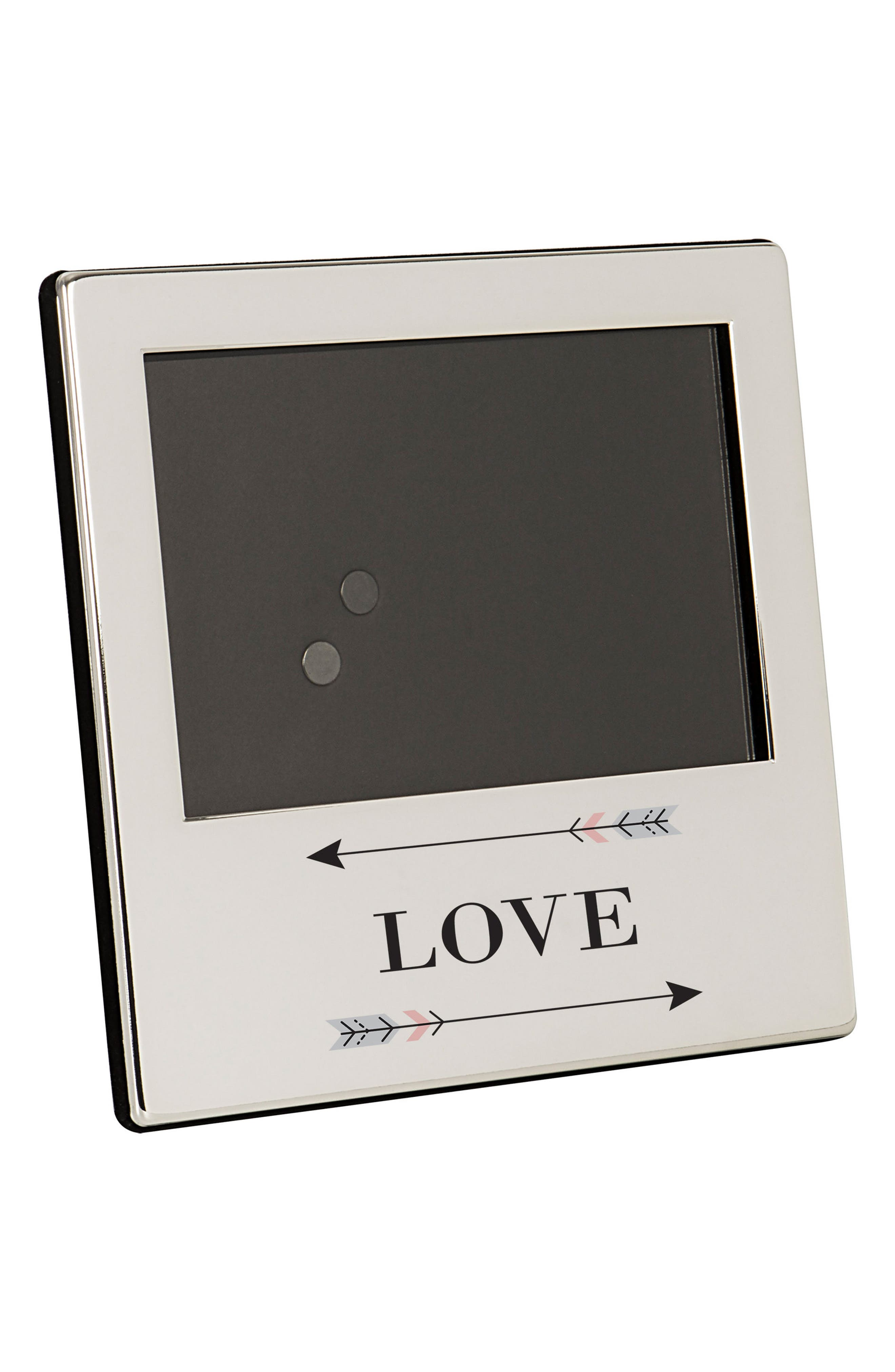 Love Arrows Silver Picture Frame,                             Main thumbnail 1, color,                             040