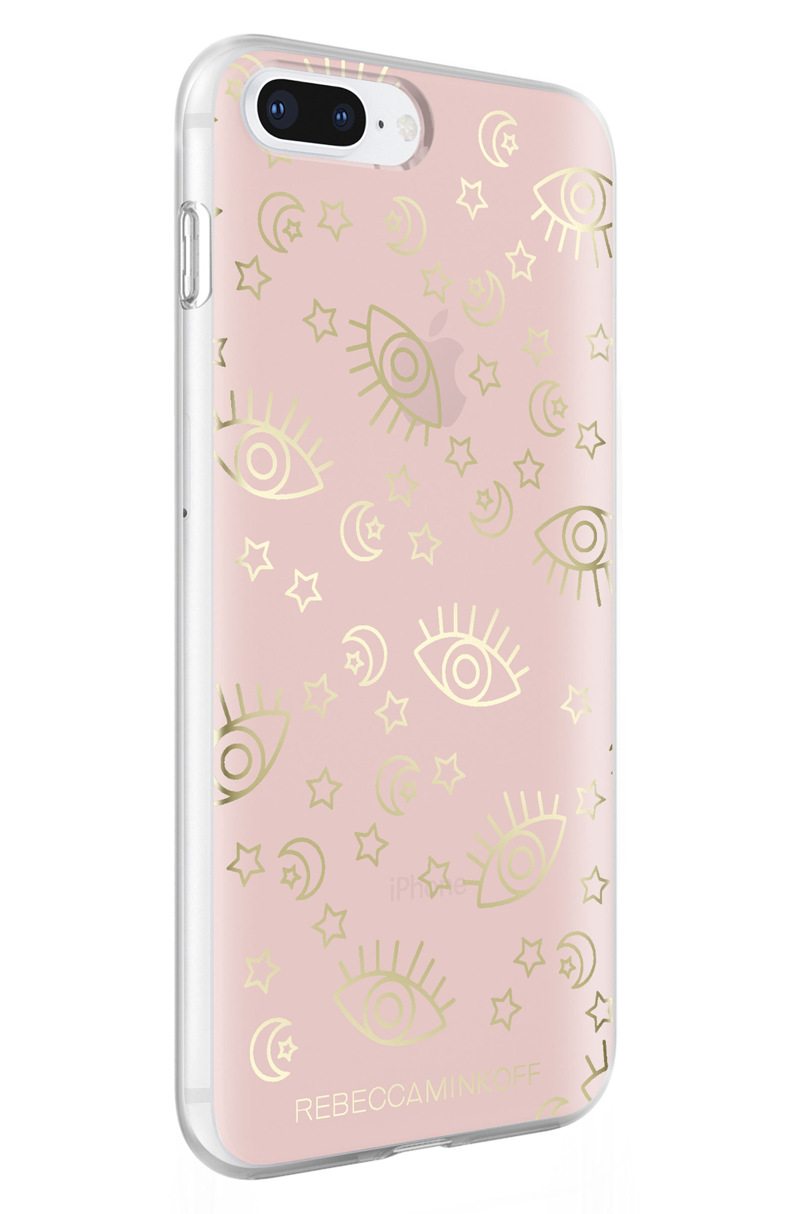 Metallic Galaxy Icon iPhone 7/8 & 7/8 Plus Case,                             Alternate thumbnail 4, color,                             ROSE GOLD/ GOLD FOIL