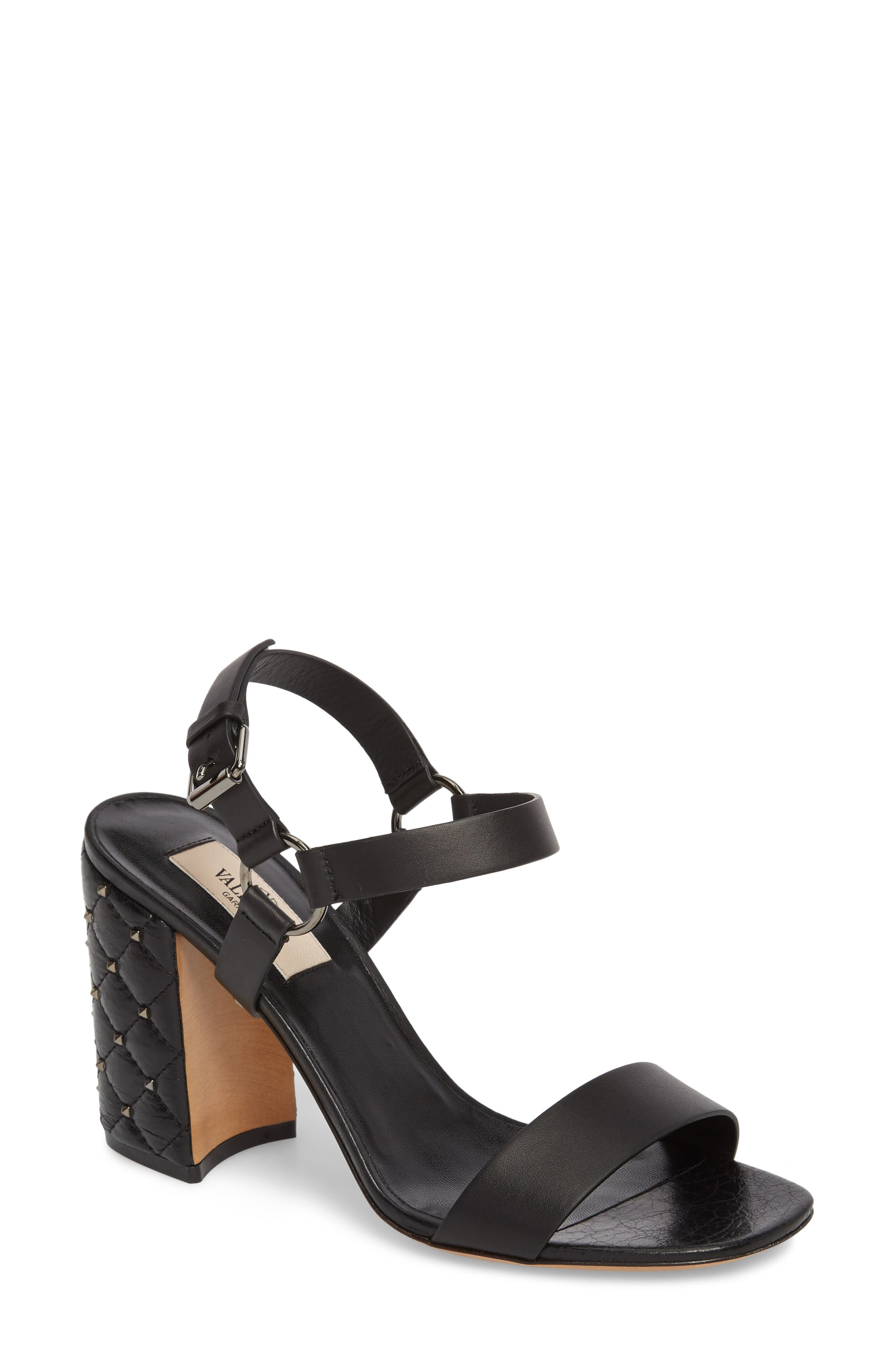 Rockstud Sandal,                         Main,                         color, 001