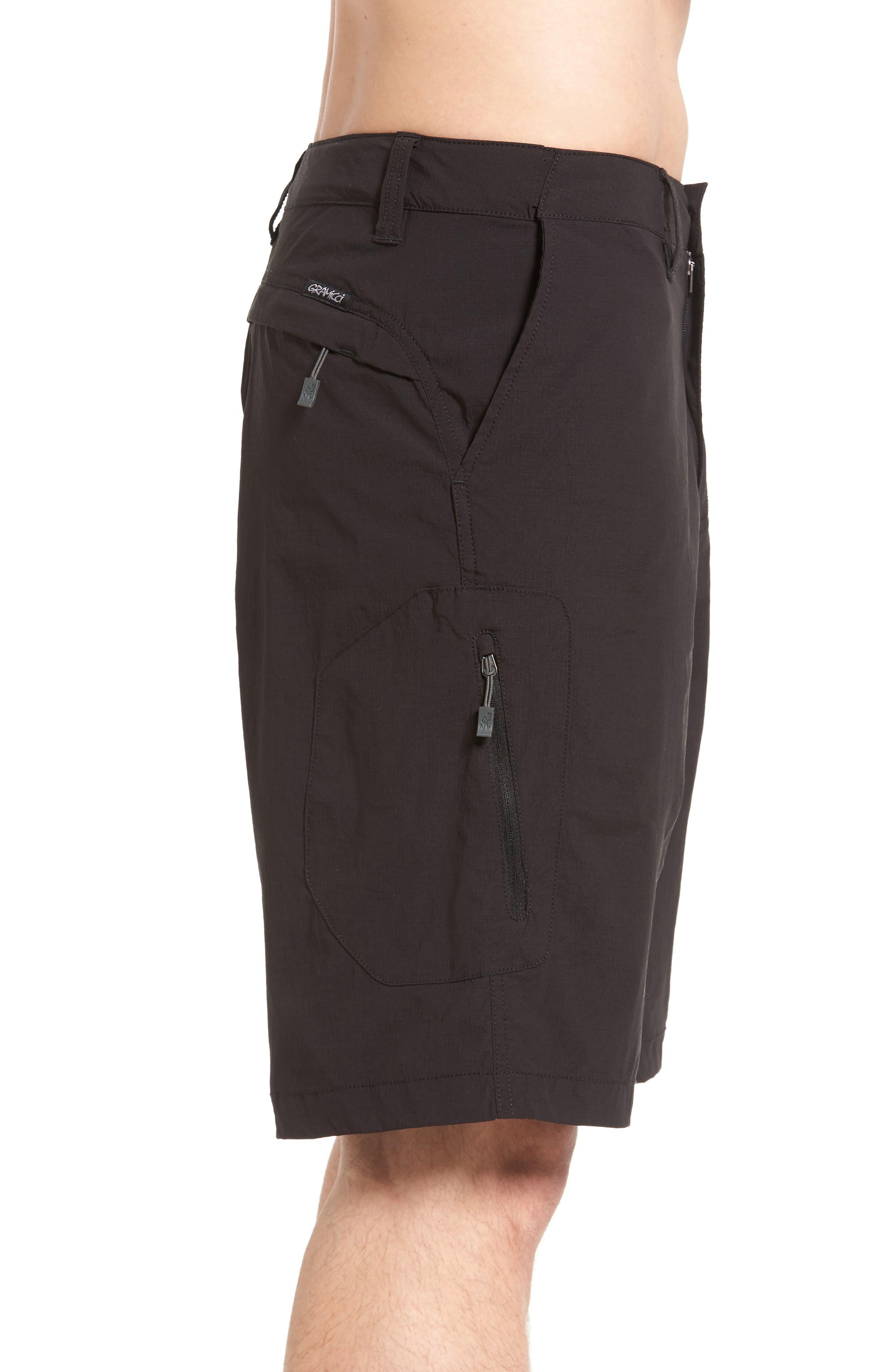 Rough & Tumble Hiking Shorts,                             Alternate thumbnail 3, color,                             002