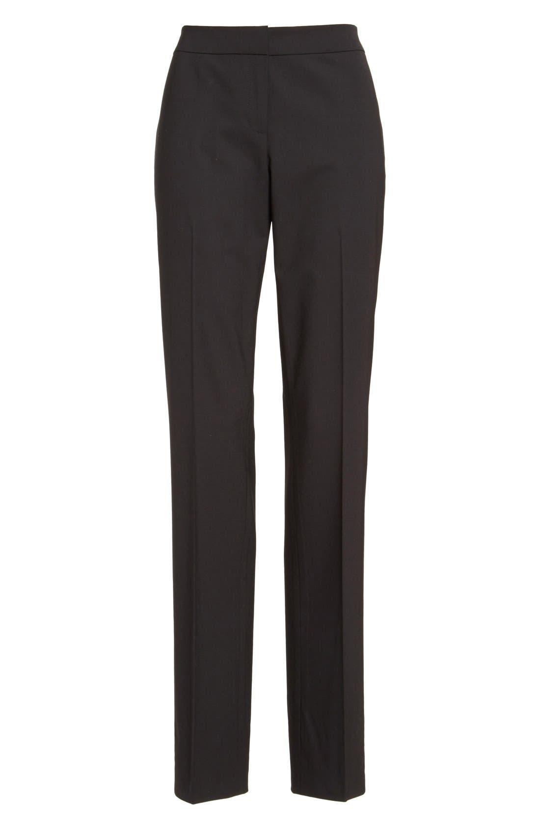 Barrow Stretch Wool Pants,                             Alternate thumbnail 8, color,                             BLACK