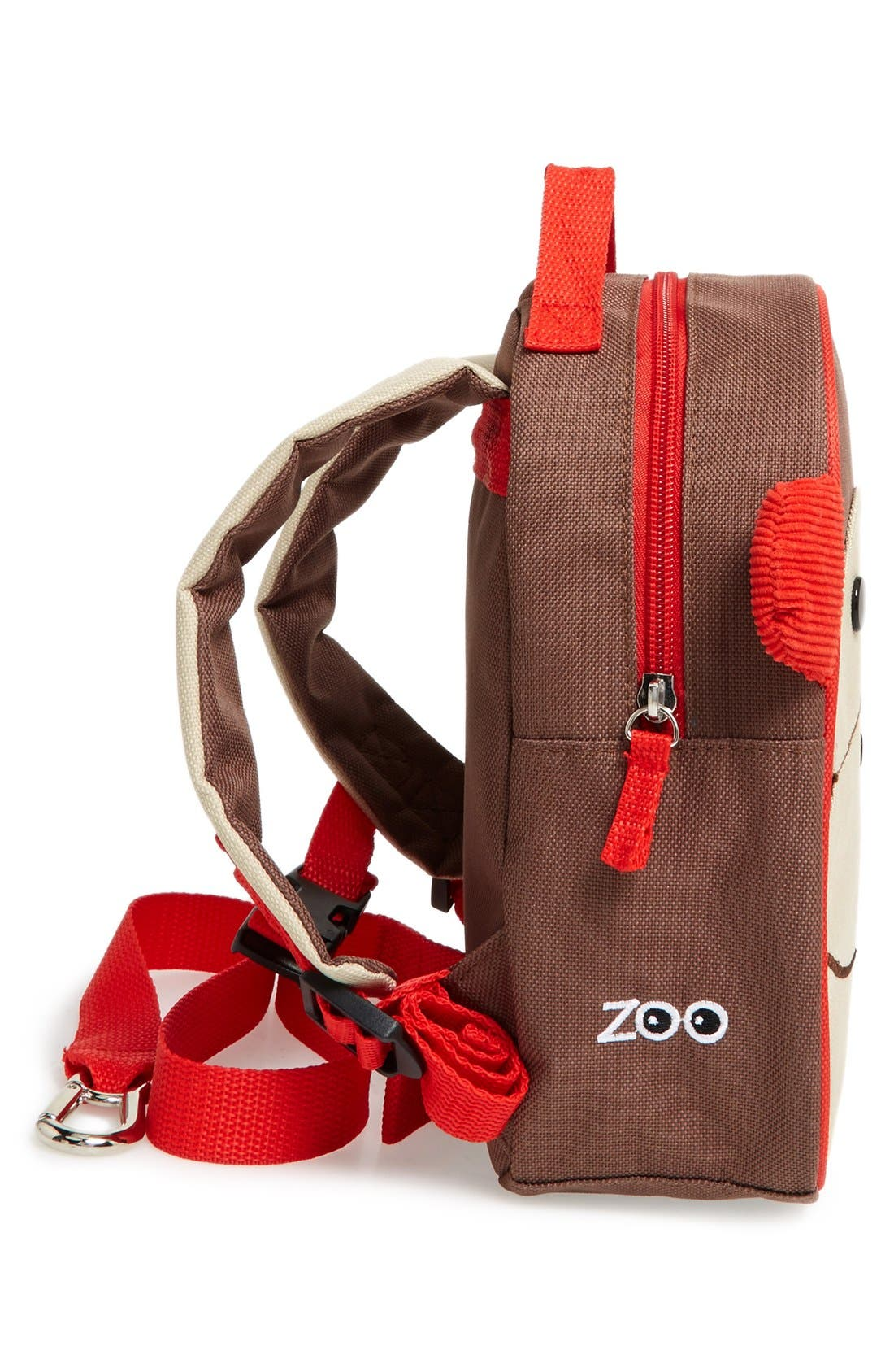 'Zoo' Safety Harness Backpack,                             Alternate thumbnail 3, color,                             MONKEY