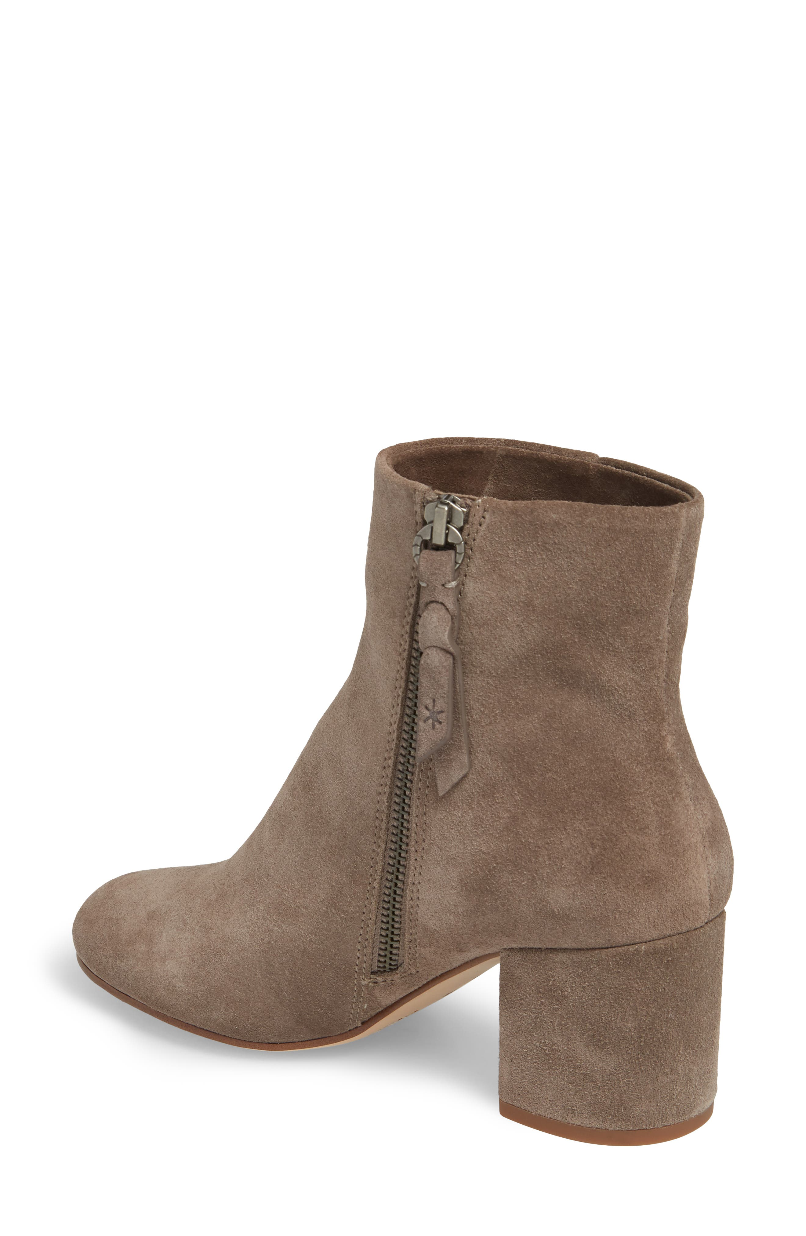 Nixie Bootie,                             Alternate thumbnail 2, color,                             LIGHT CHARCOAL SUEDE