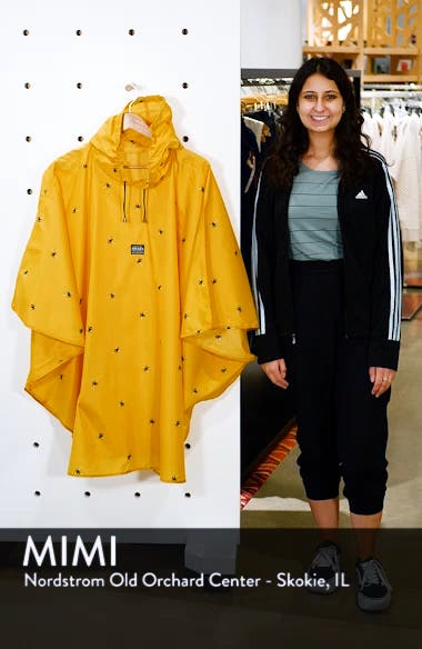 Right as Rain Print Packable Hooded Poncho, sales video thumbnail