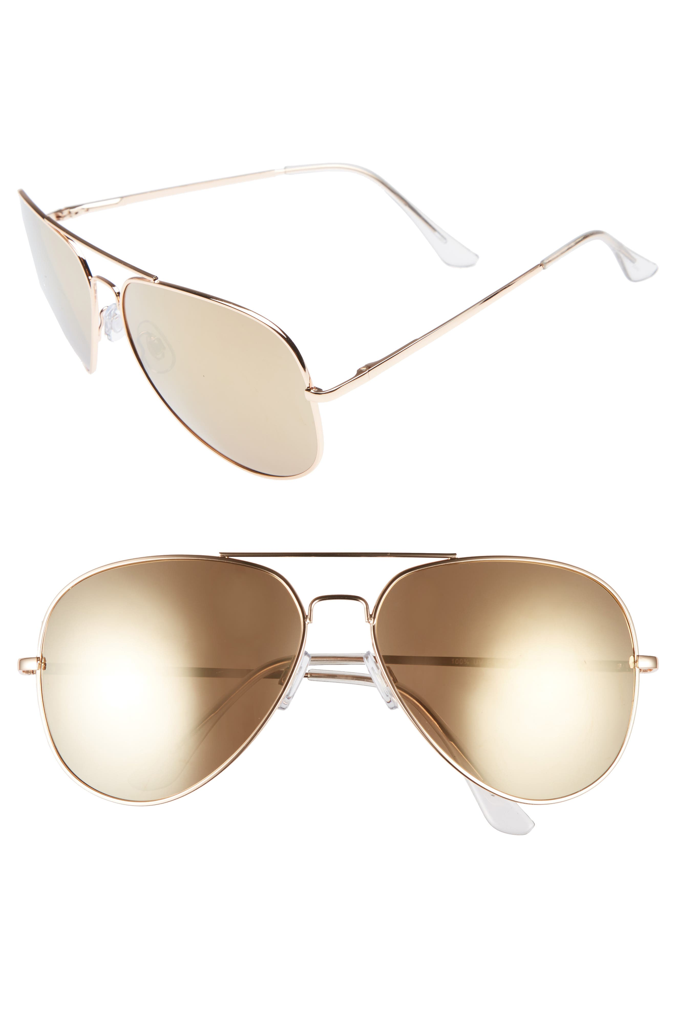 60mm Large Aviator Sunglasses,                             Main thumbnail 2, color,