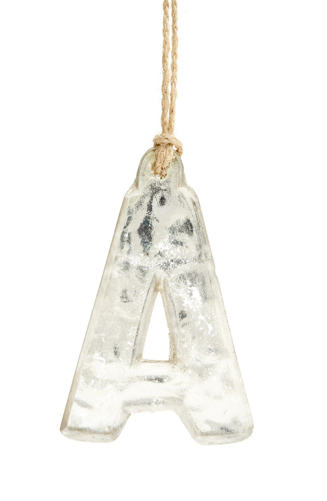 Handblown Glass Alphabet Ornament,                             Main thumbnail 16, color,