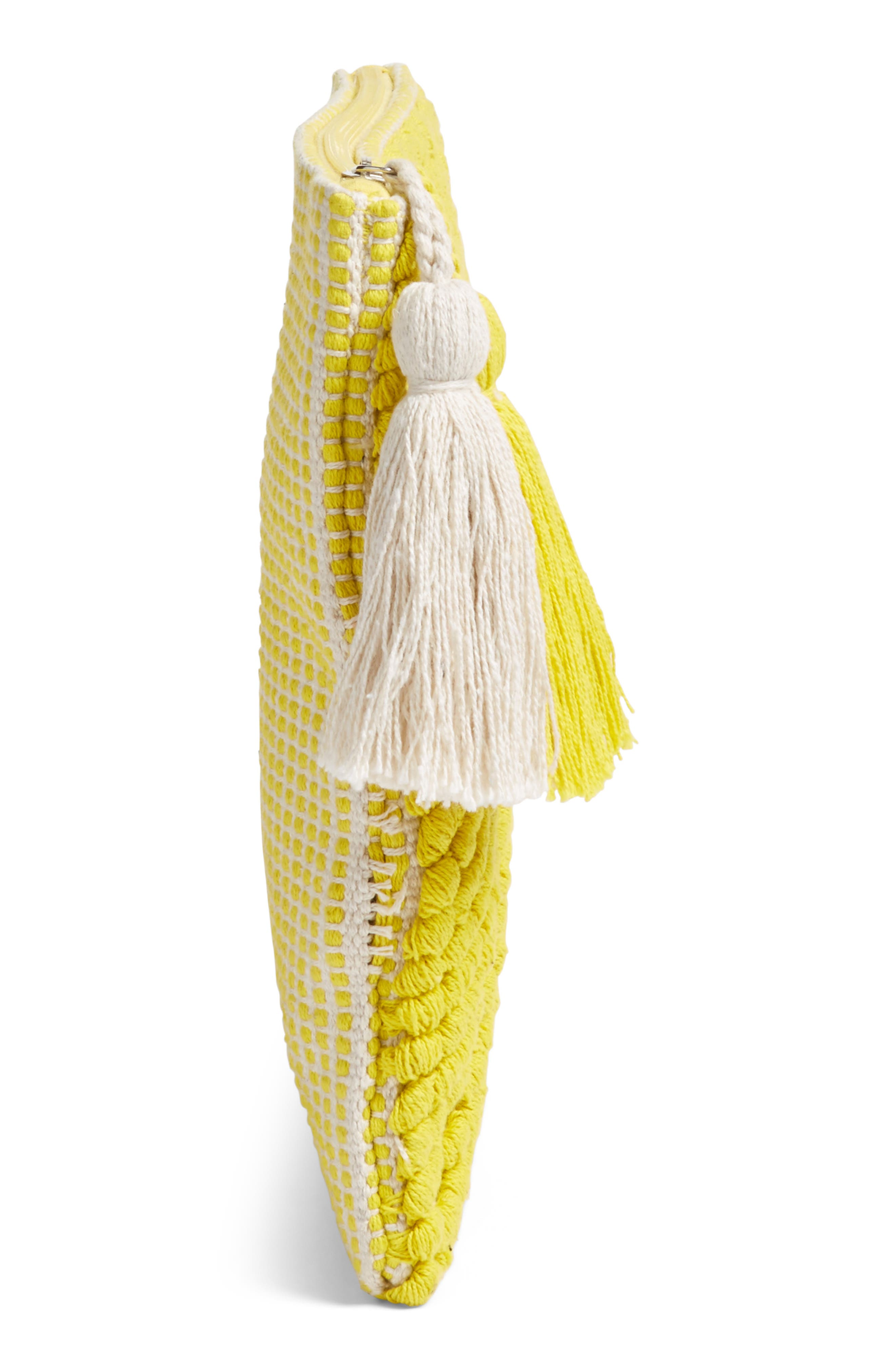 Palisades Tasseled Woven Clutch,                             Alternate thumbnail 20, color,