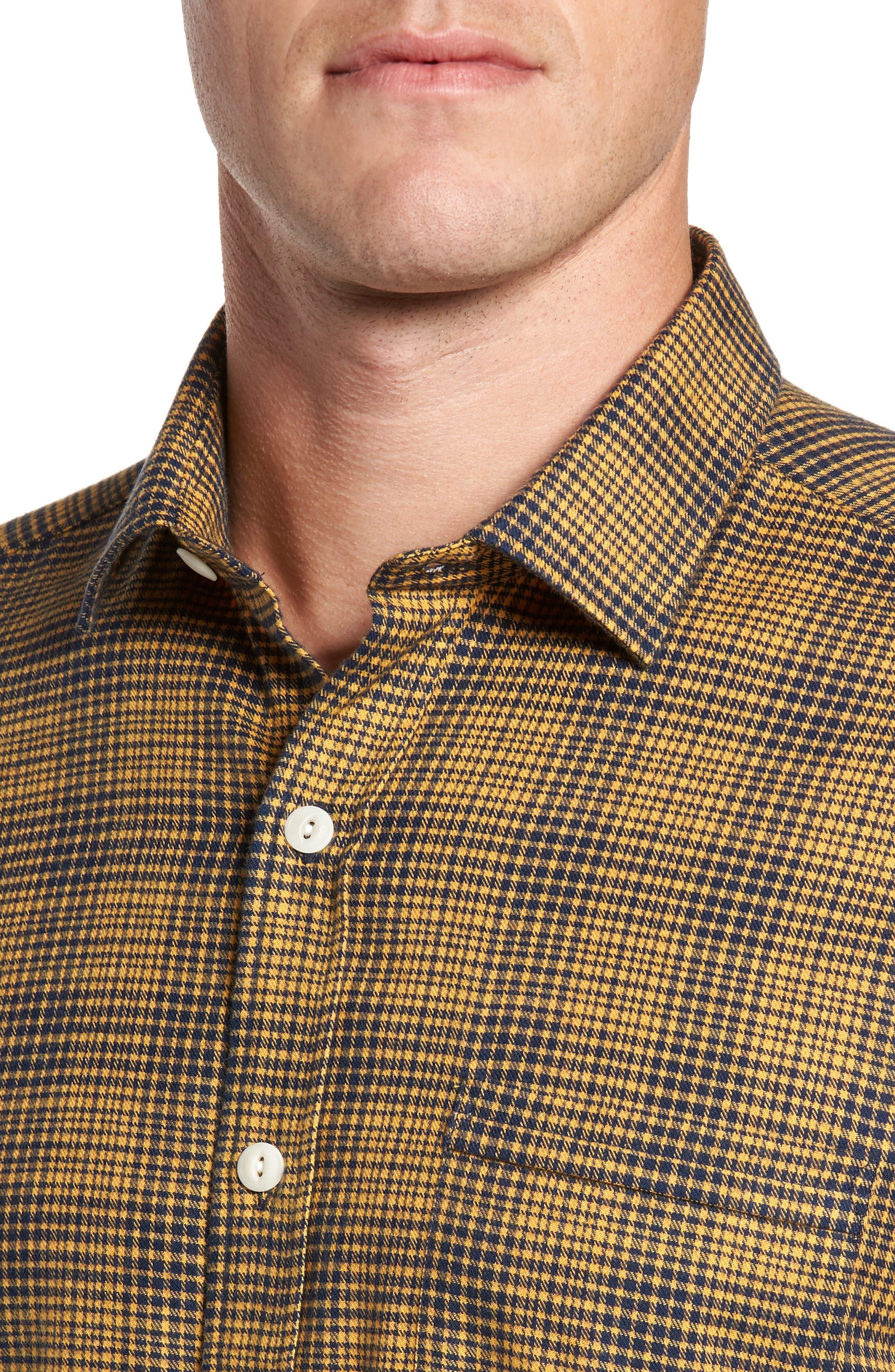 Glen Plaid Sport Shirt,                             Alternate thumbnail 4, color,                             700