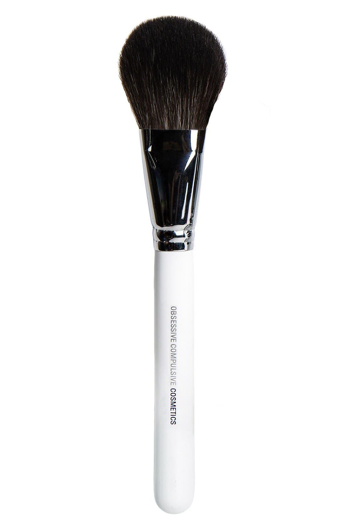Large Powder Brush,                             Main thumbnail 1, color,                             000