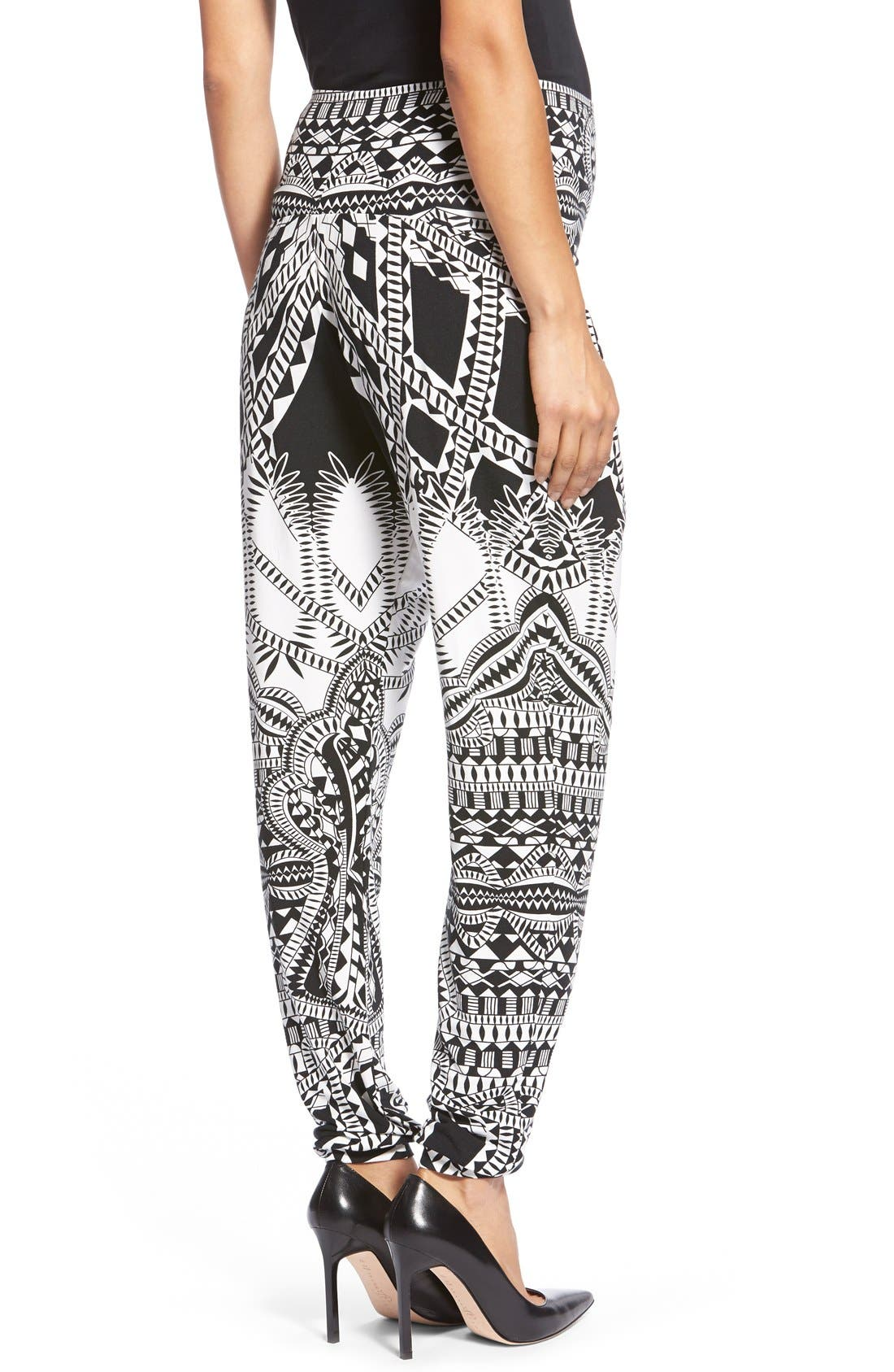 Liviana Tapered Maternity Pants,                             Alternate thumbnail 4, color,                             TRIBAL PLACEMENT