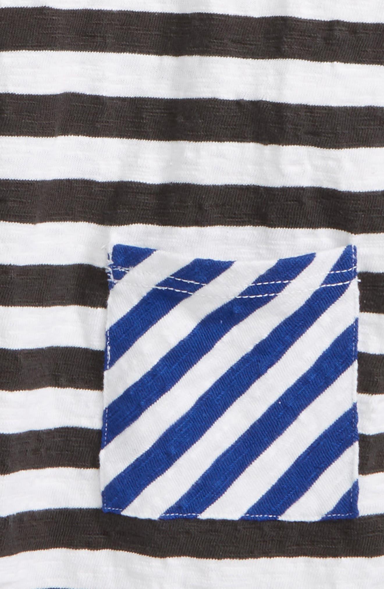 Mixed Stripe Pocket T-Shirt,                             Alternate thumbnail 2, color,