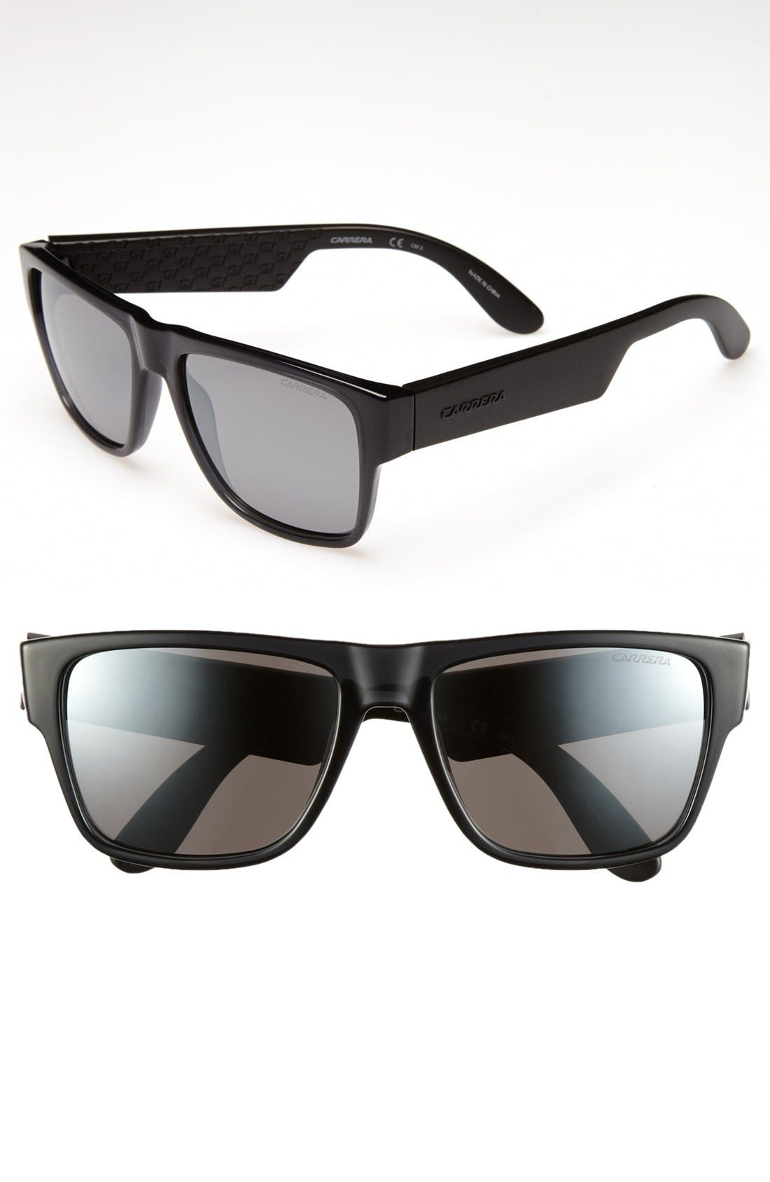 '5002' 55mm Sunglasses,                             Main thumbnail 1, color,                             TRANSPARENT GREY/ SILVER
