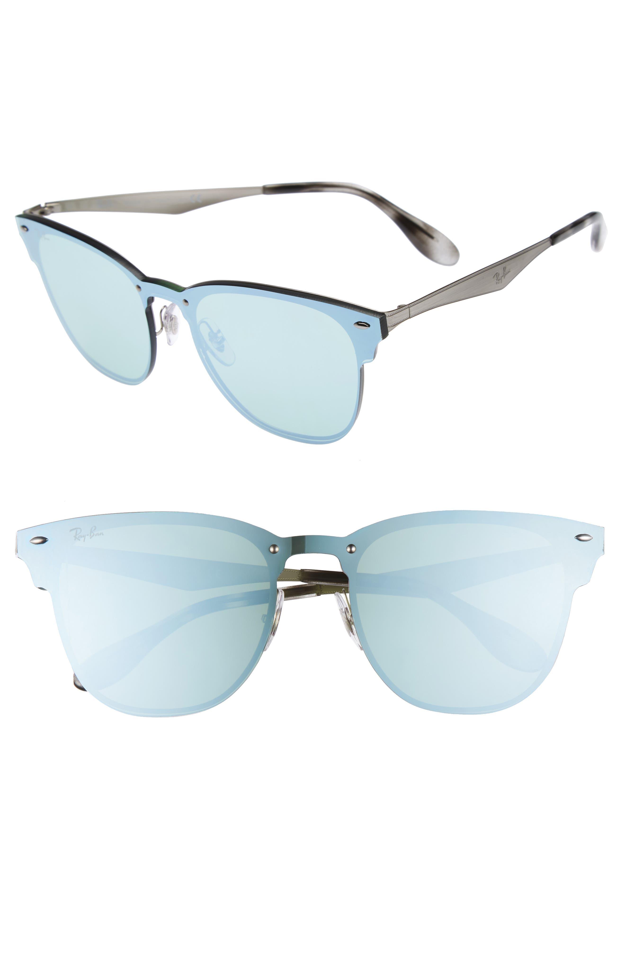 52mm Mirrored Sunglasses,                             Main thumbnail 1, color,                             040