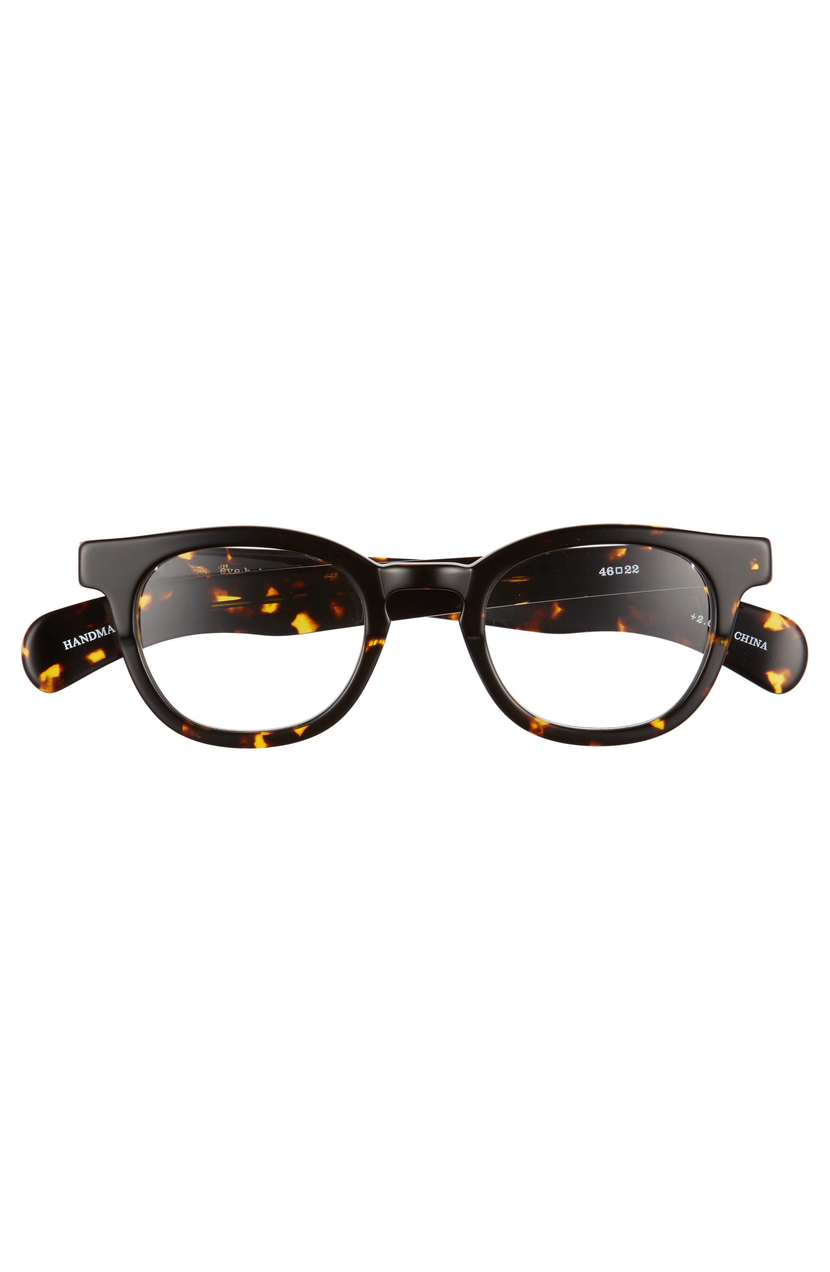 Total Wit 46mm Reading Glasses,                             Alternate thumbnail 2, color,                             TORTOISE