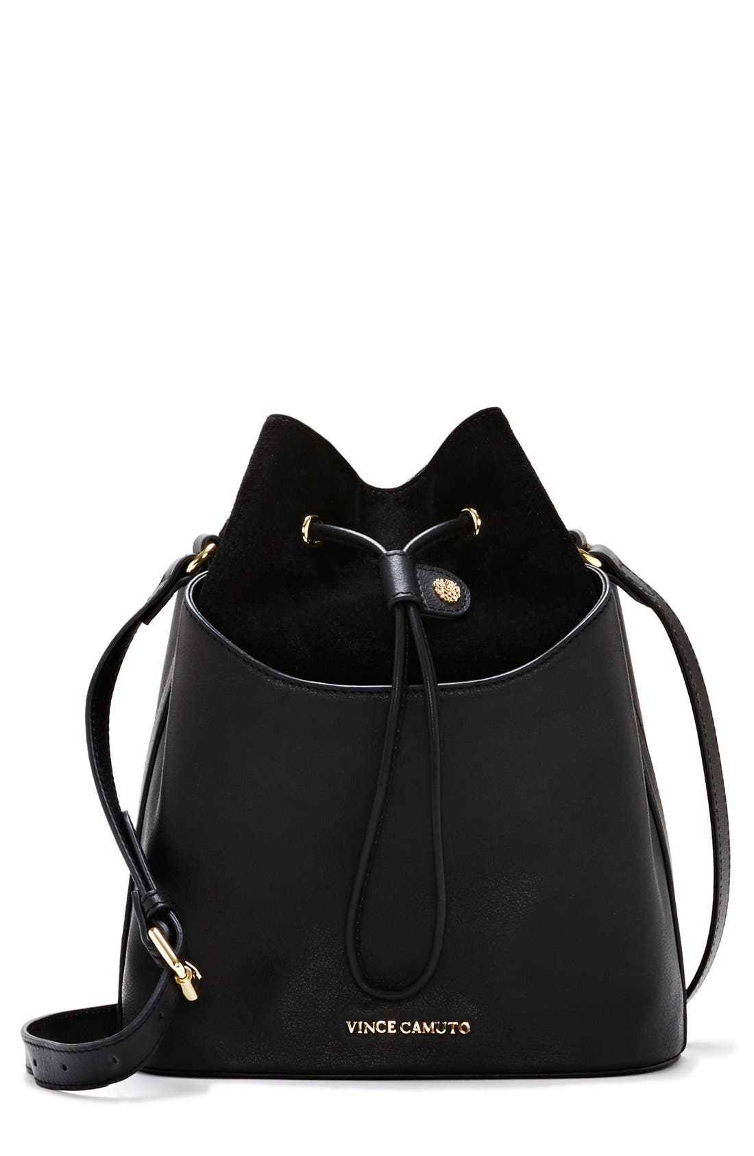 'Lenon' Bucket Bag,                             Main thumbnail 1, color,                             002