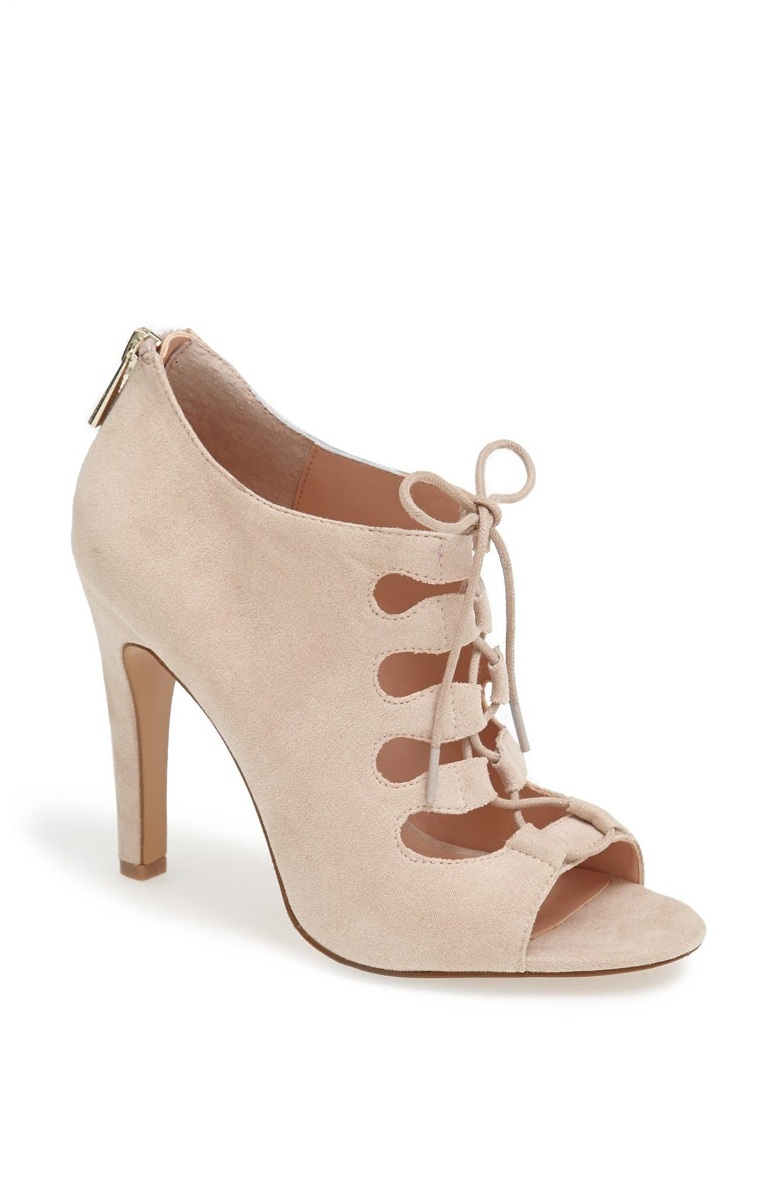 SOLE SOCIETY 'Mandee' Open Front Bootie, Main, color, 250