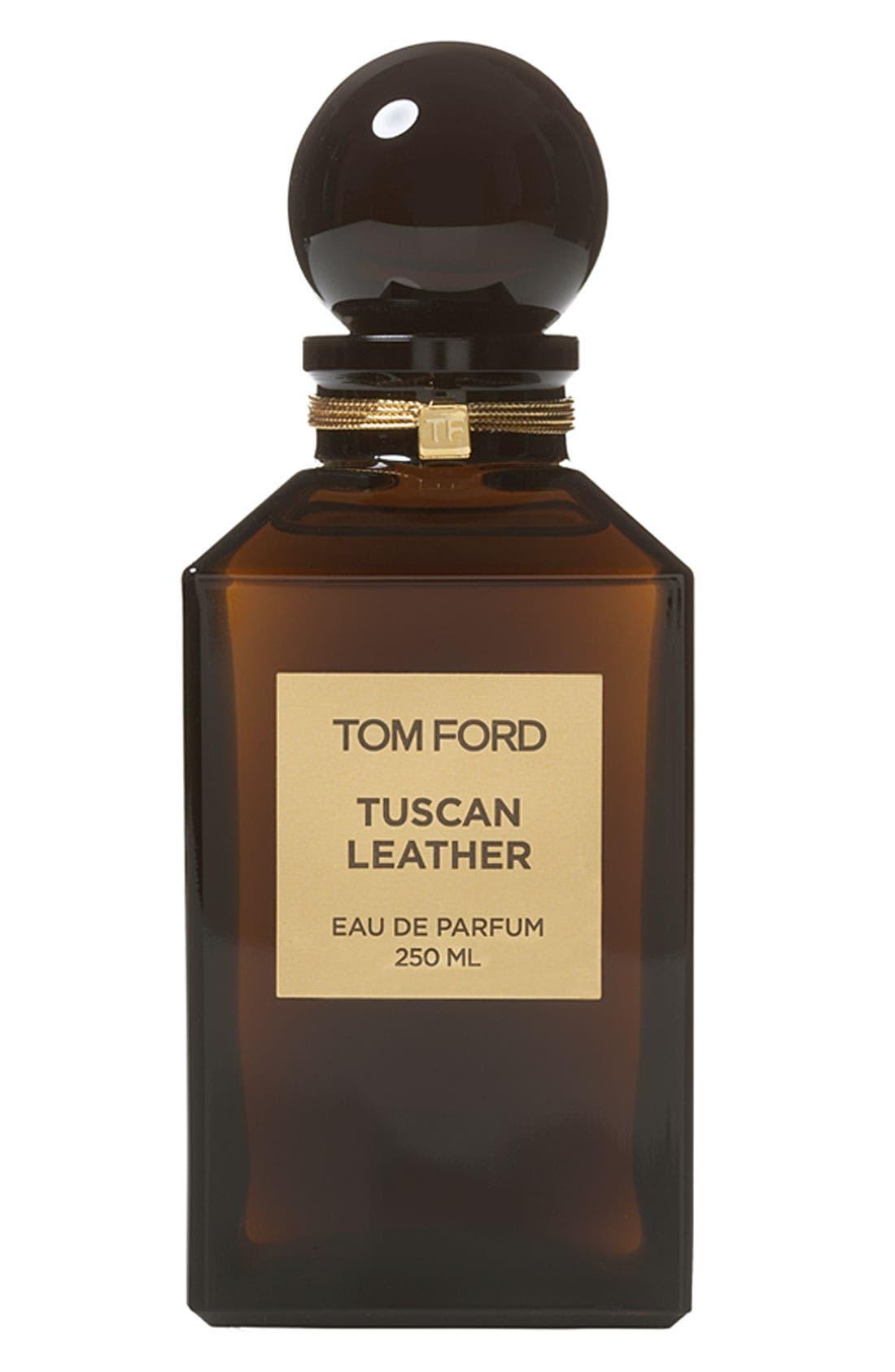 Private Blend Tuscan Leather Eau de Parfum Decanter,                             Main thumbnail 1, color,                             NO COLOR