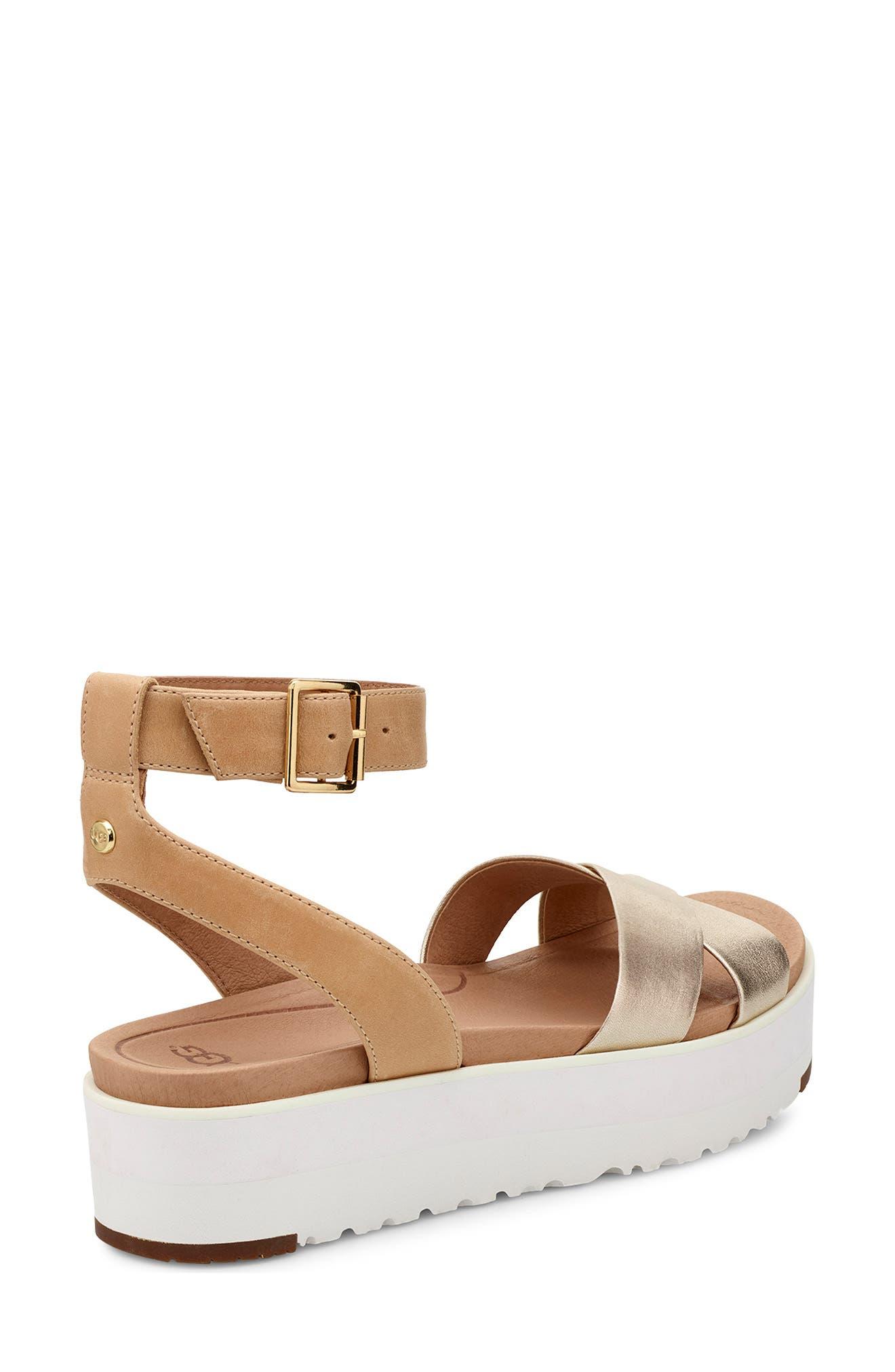 Tipton Metallic Platform Sandal,                             Alternate thumbnail 2, color,                             GOLD