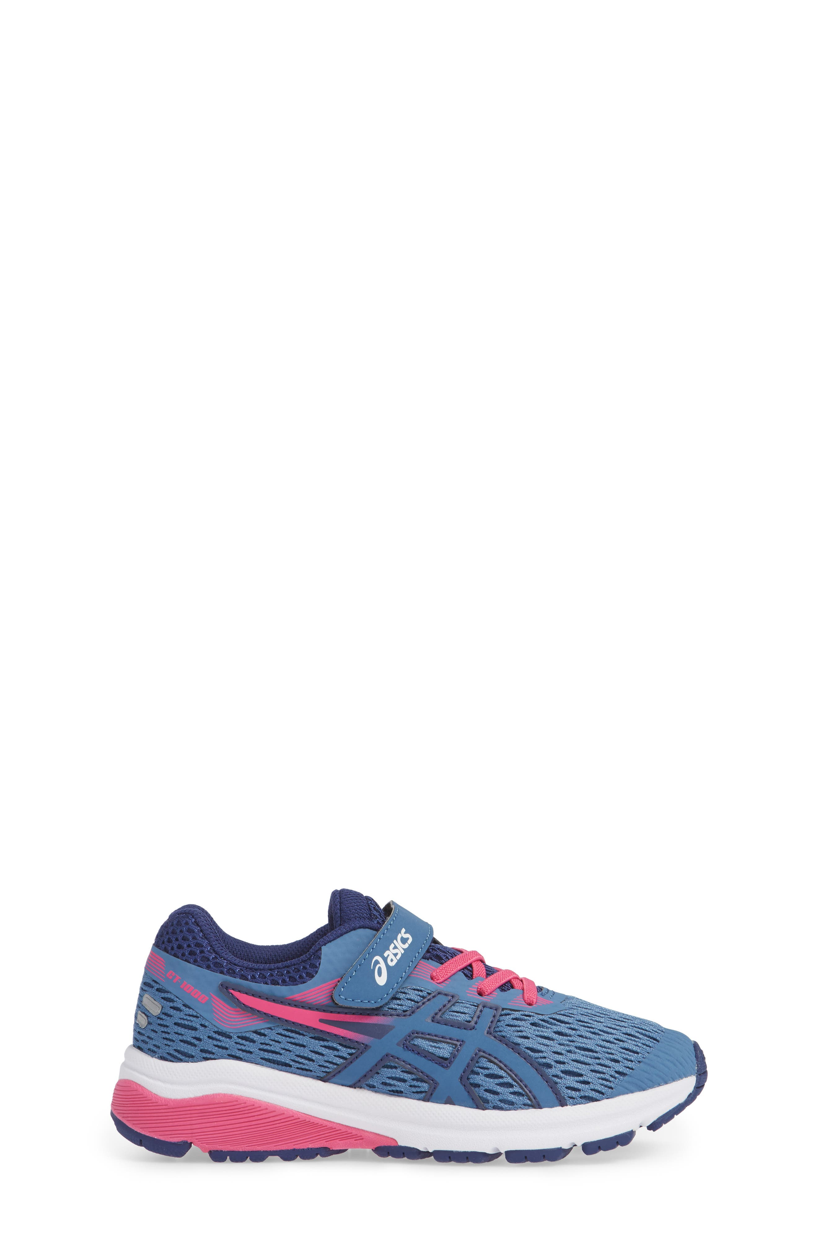GT 1000 7 Running Shoe,                             Alternate thumbnail 3, color,                             AZURE/ FUCHSIA PURPLE
