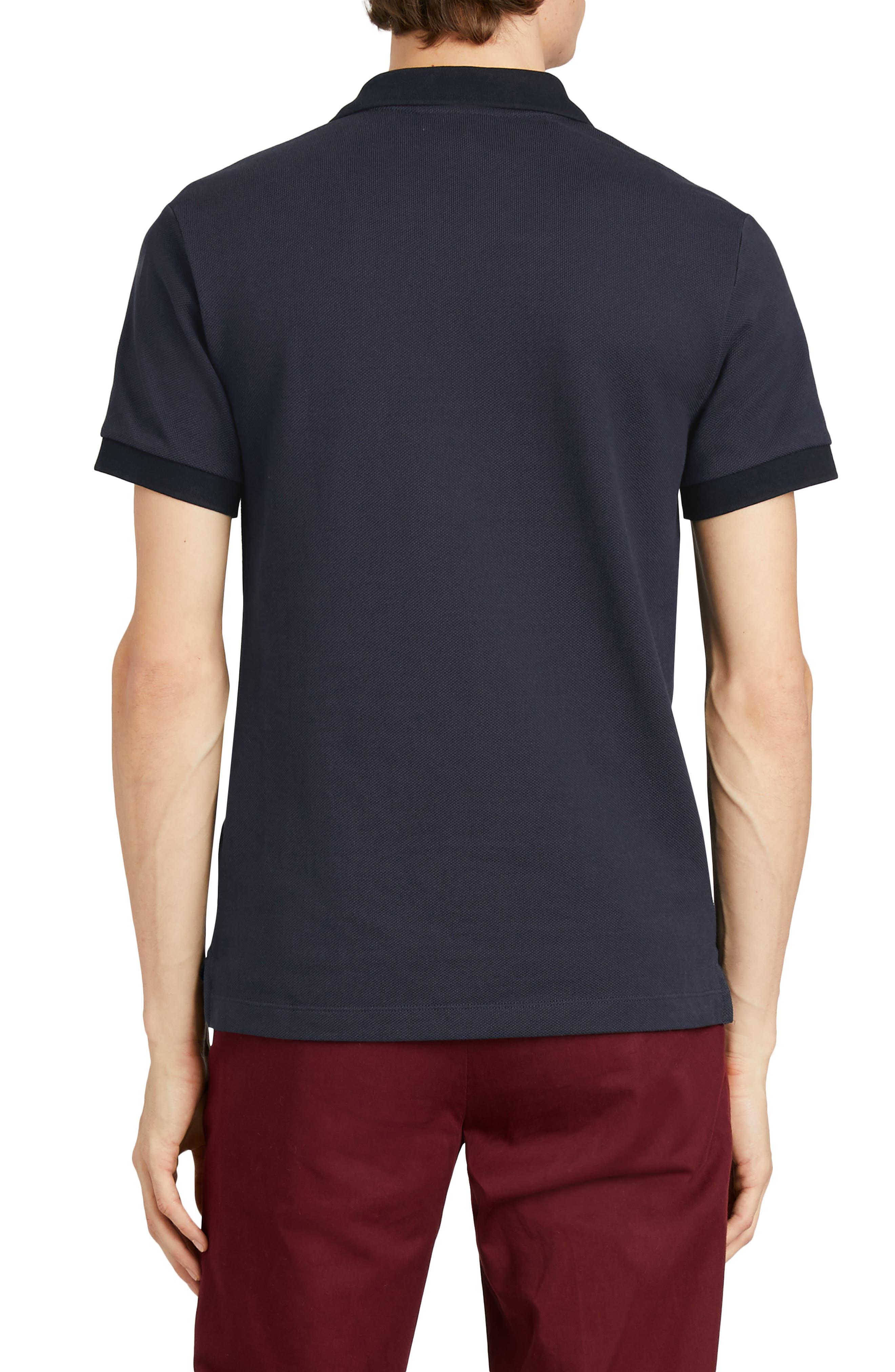 Hartford Cotton Polo Shirt,                             Alternate thumbnail 2, color,                             NAVY