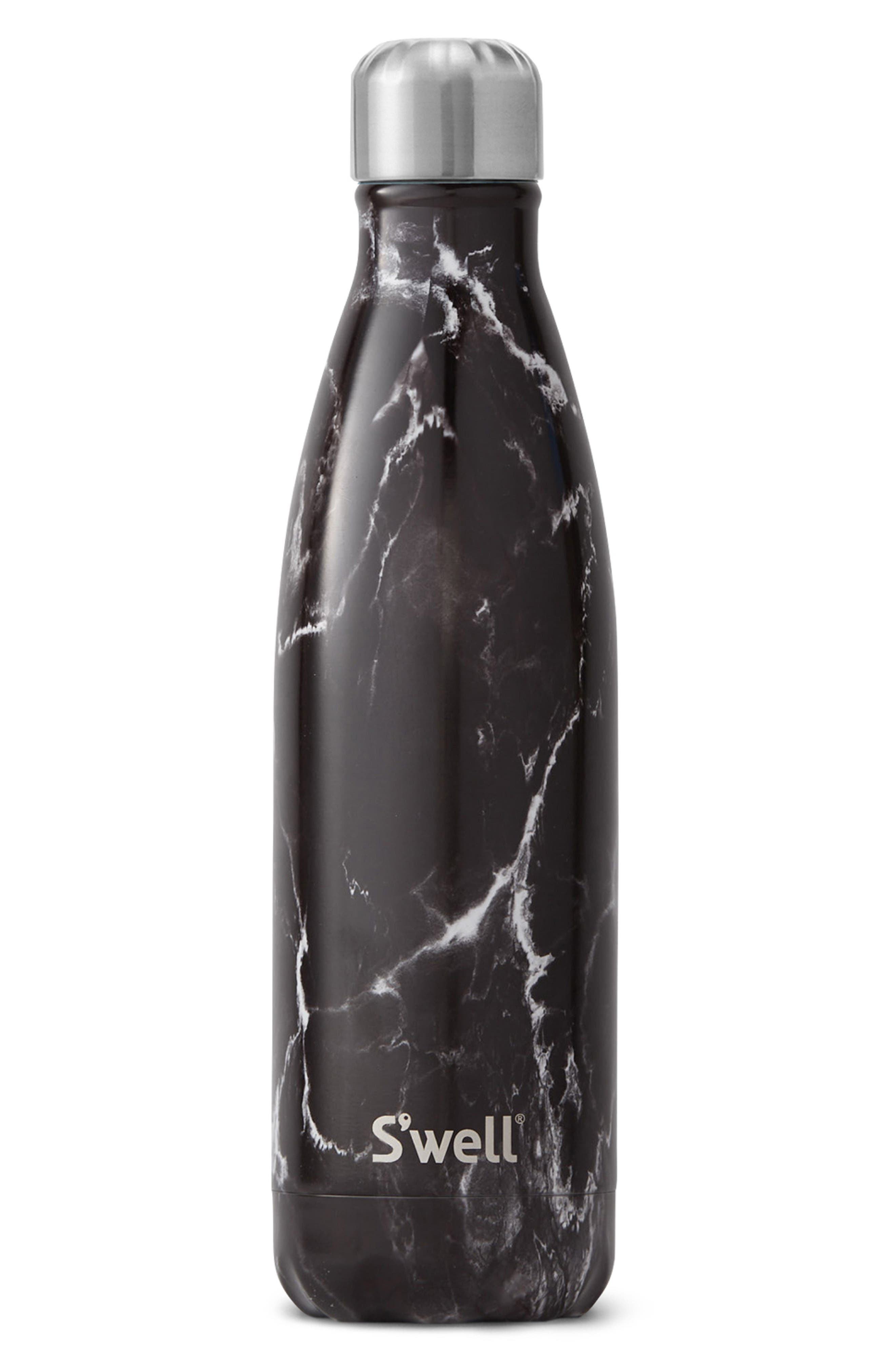 Black Marble 17-Ounce Insulated Stainless Steel Water Bottle,                         Main,                         color, BLACK MARBLE