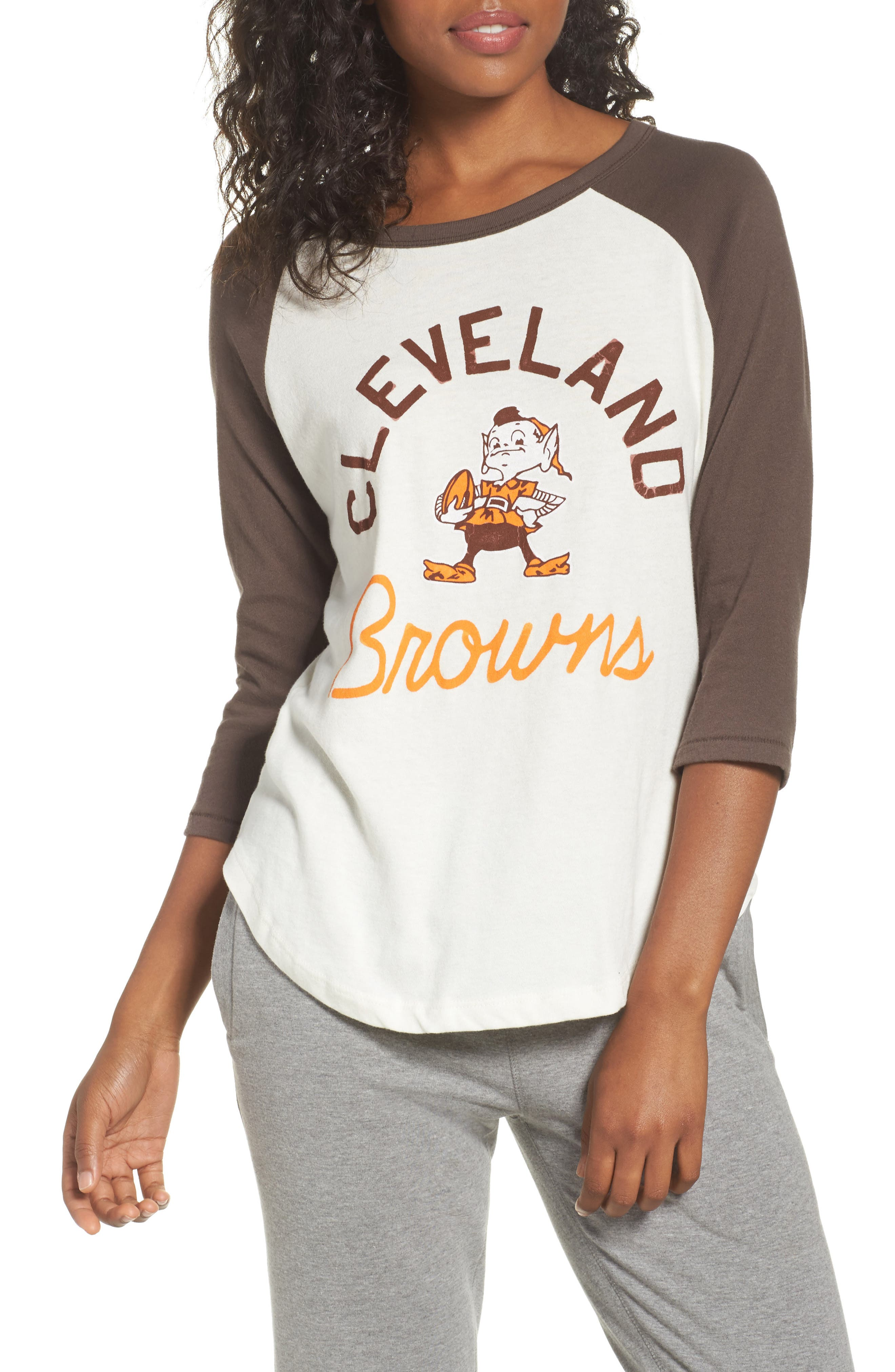 NFL Cleveland Browns Raglan Tee,                             Main thumbnail 1, color,                             189