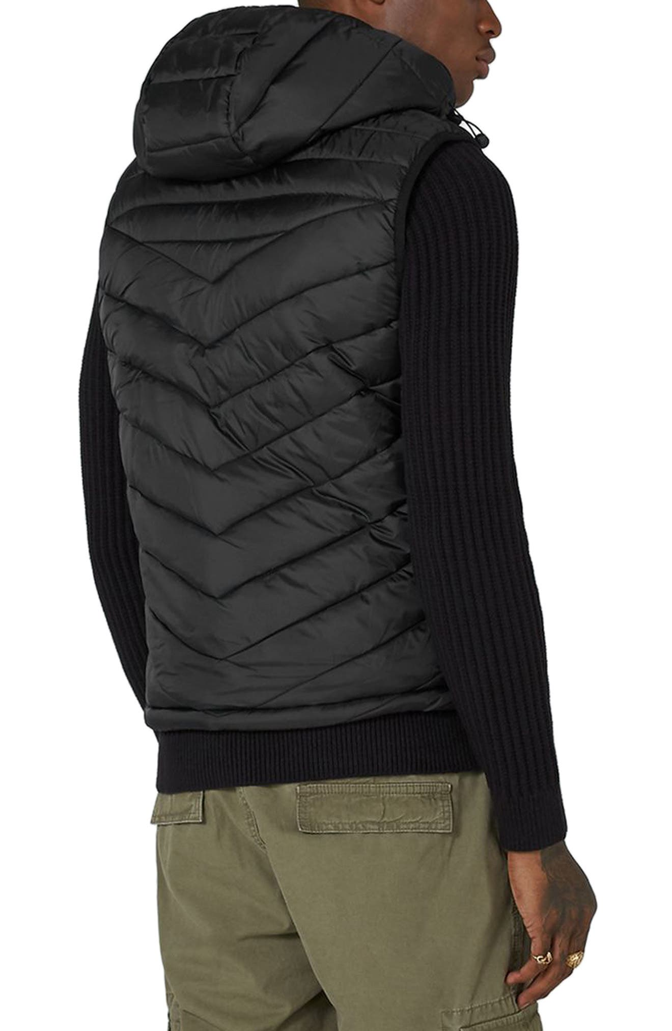Quilted Puffer Vest,                             Alternate thumbnail 2, color,                             001