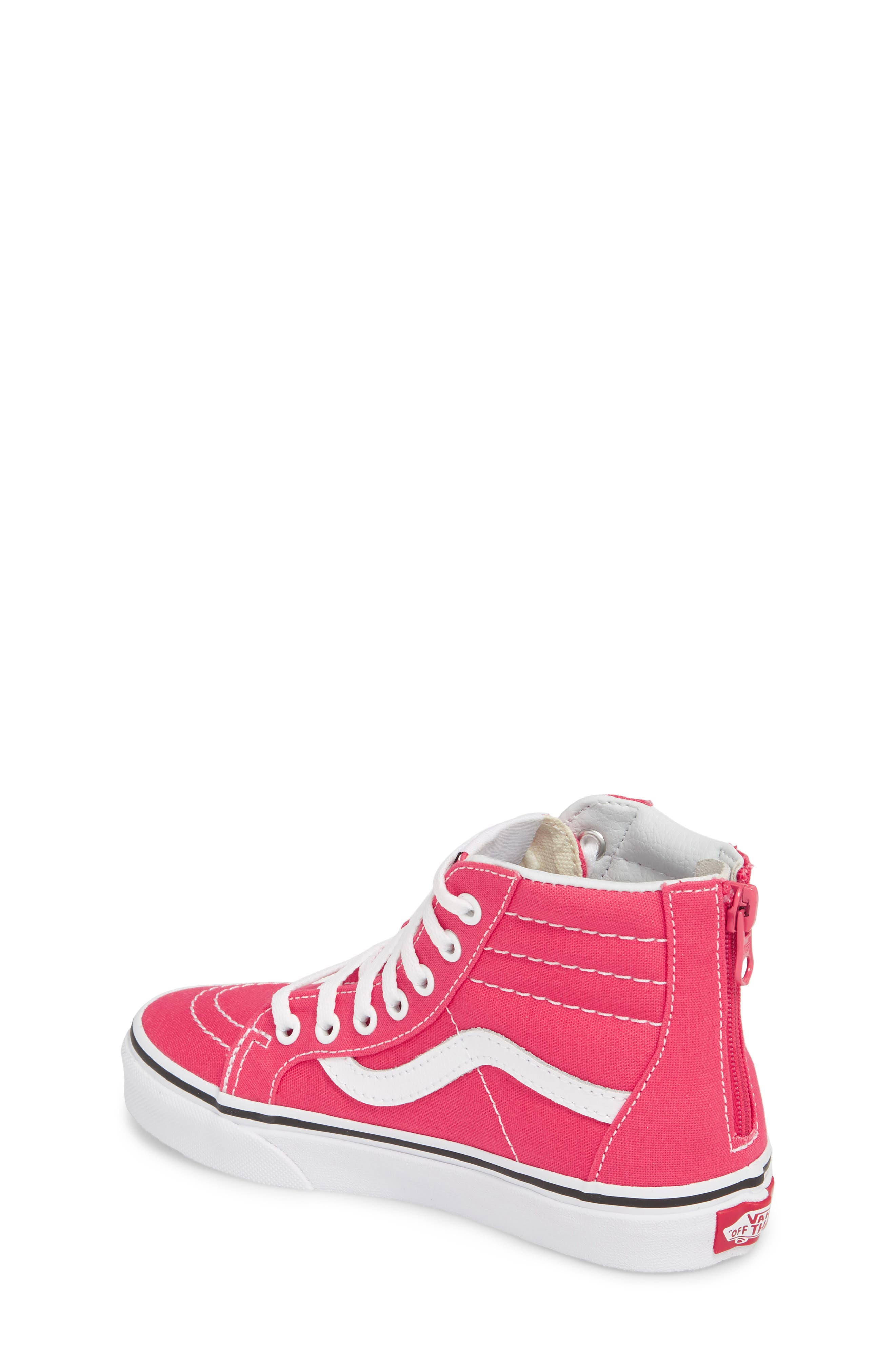 Sk8-Hi Zip Sneaker,                             Alternate thumbnail 2, color,                             AZALEA/ TRUE WHITE
