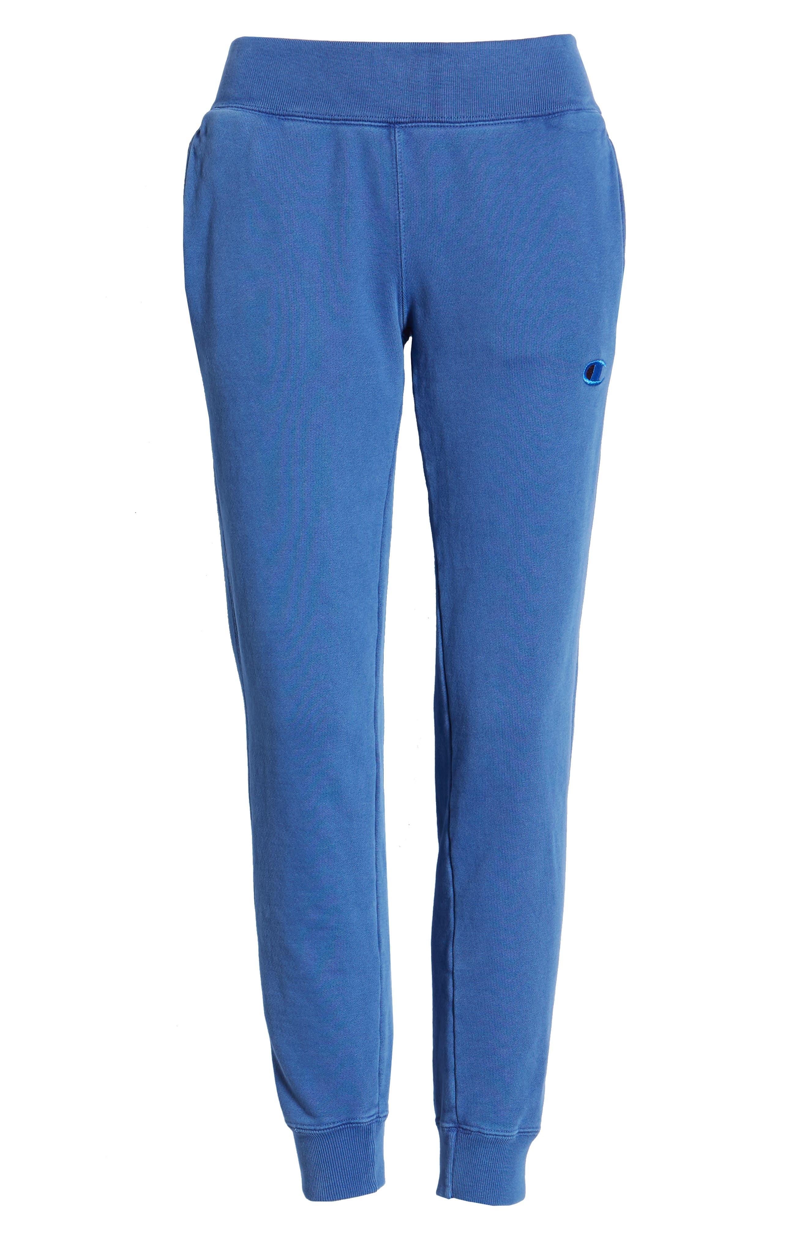 CHAMPION, Garment Dyed Jogger Pants, Alternate thumbnail 7, color, 400