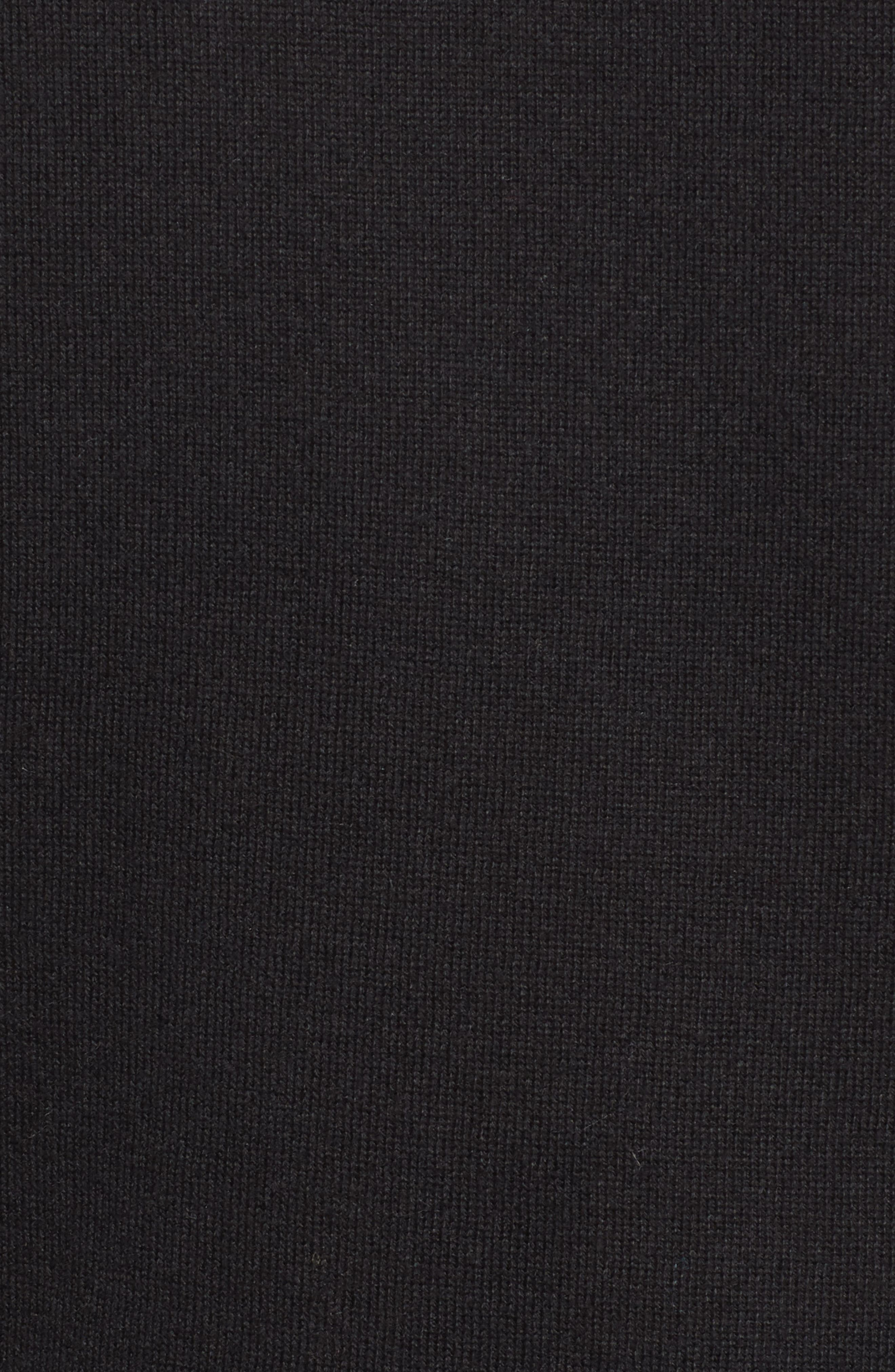 HALOGEN<SUP>®</SUP>,                             Slit Sleeve Sweater,                             Alternate thumbnail 5, color,                             BLACK