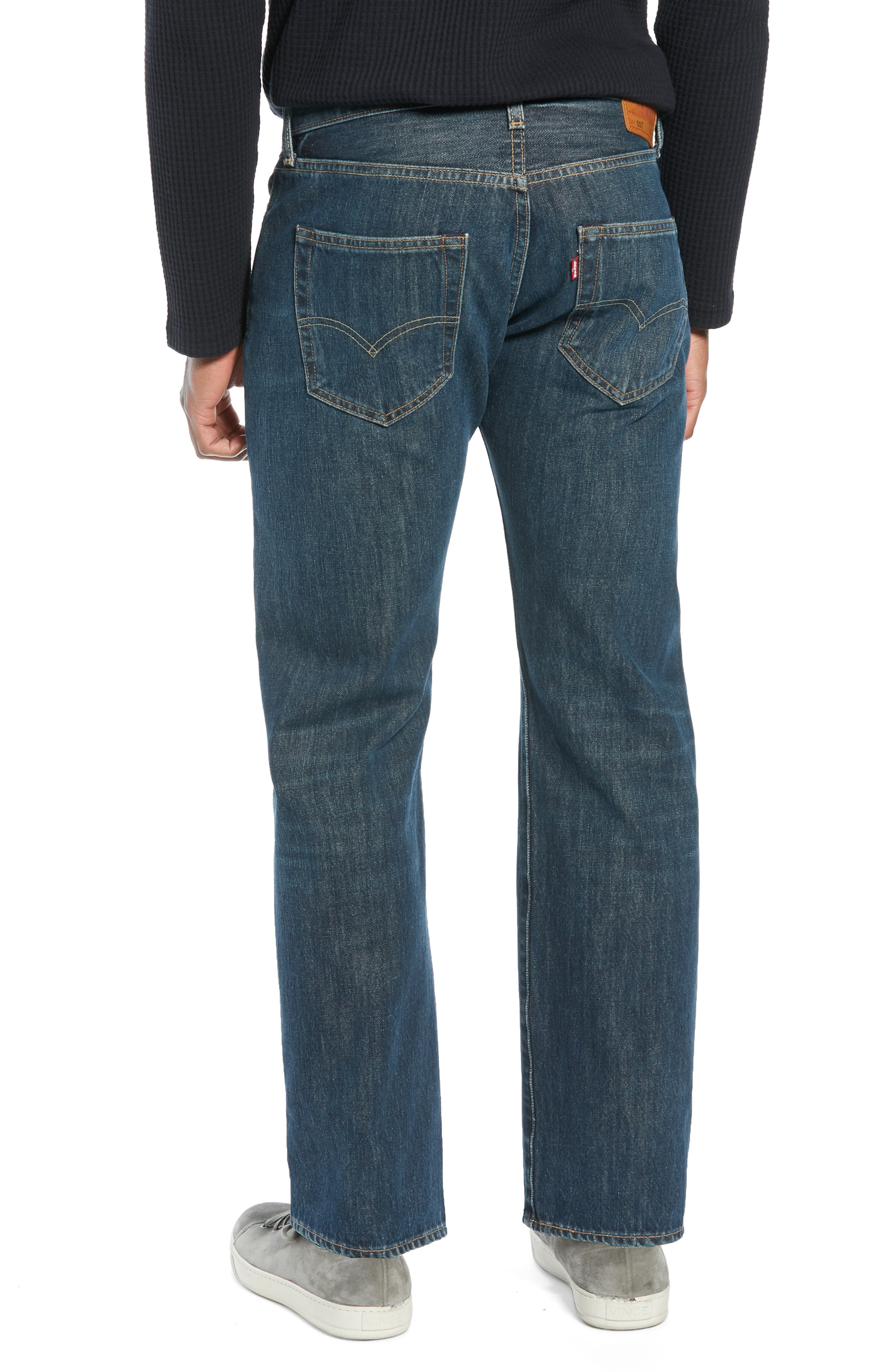 501<sup>®</sup> Straight Leg Jeans,                             Alternate thumbnail 2, color,                             SNOOT