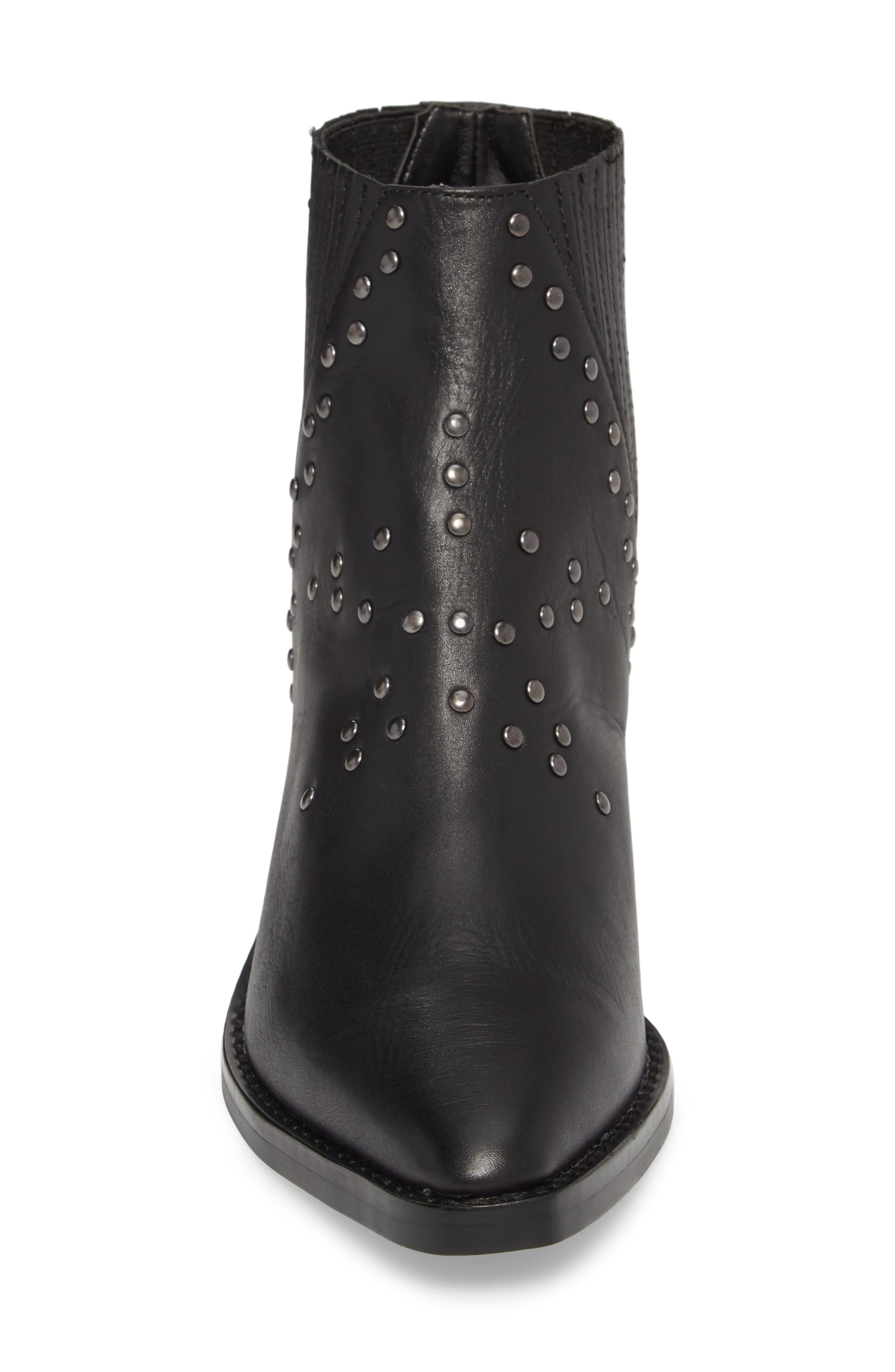 Simbai Western Boot,                             Alternate thumbnail 4, color,                             BLACK ALBANY LEATHER