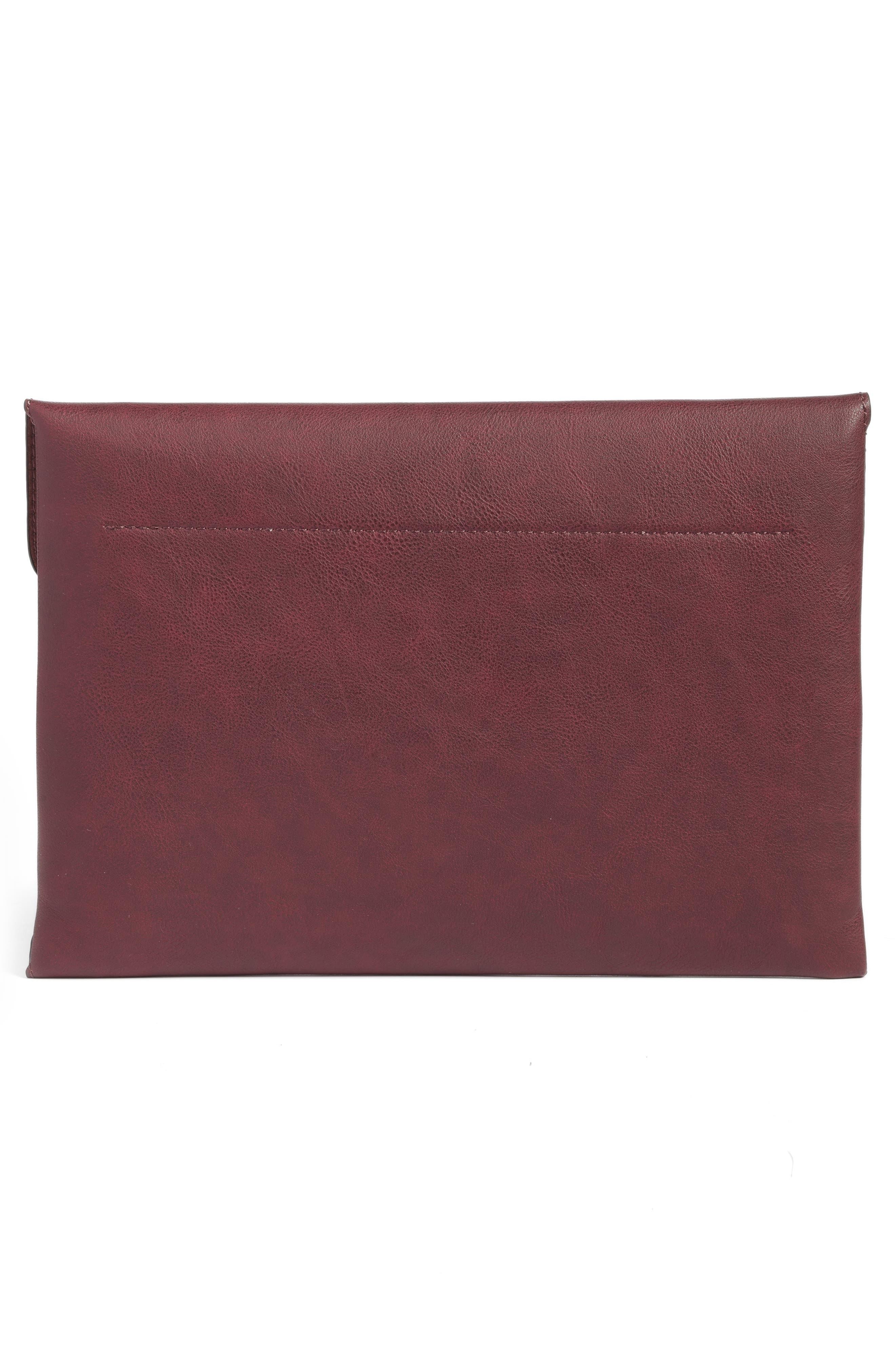 Karen Faux Leather Envelope Clutch,                             Alternate thumbnail 9, color,