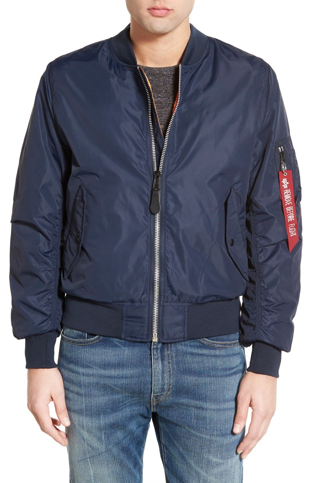 LB-2 Scout Reversible Flight Jacket,                             Main thumbnail 7, color,