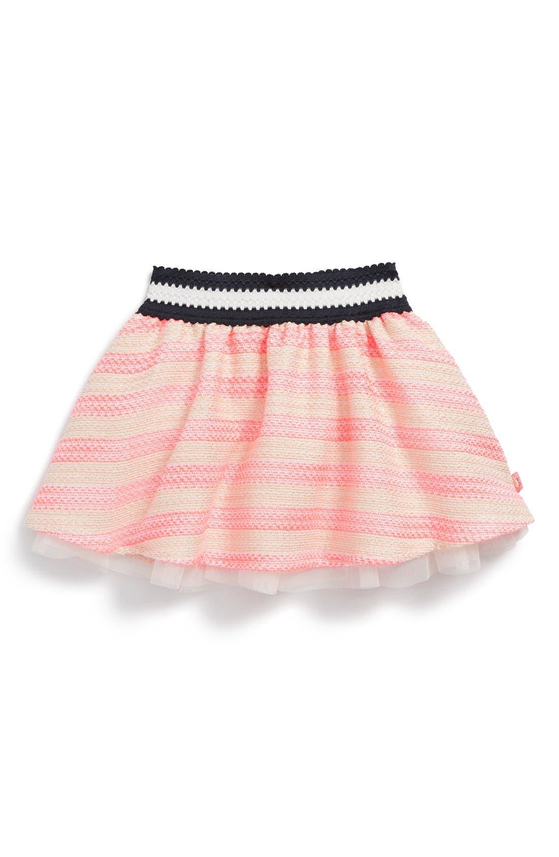 Metallic Jacquard Stripe Skirt,                         Main,                         color, 661