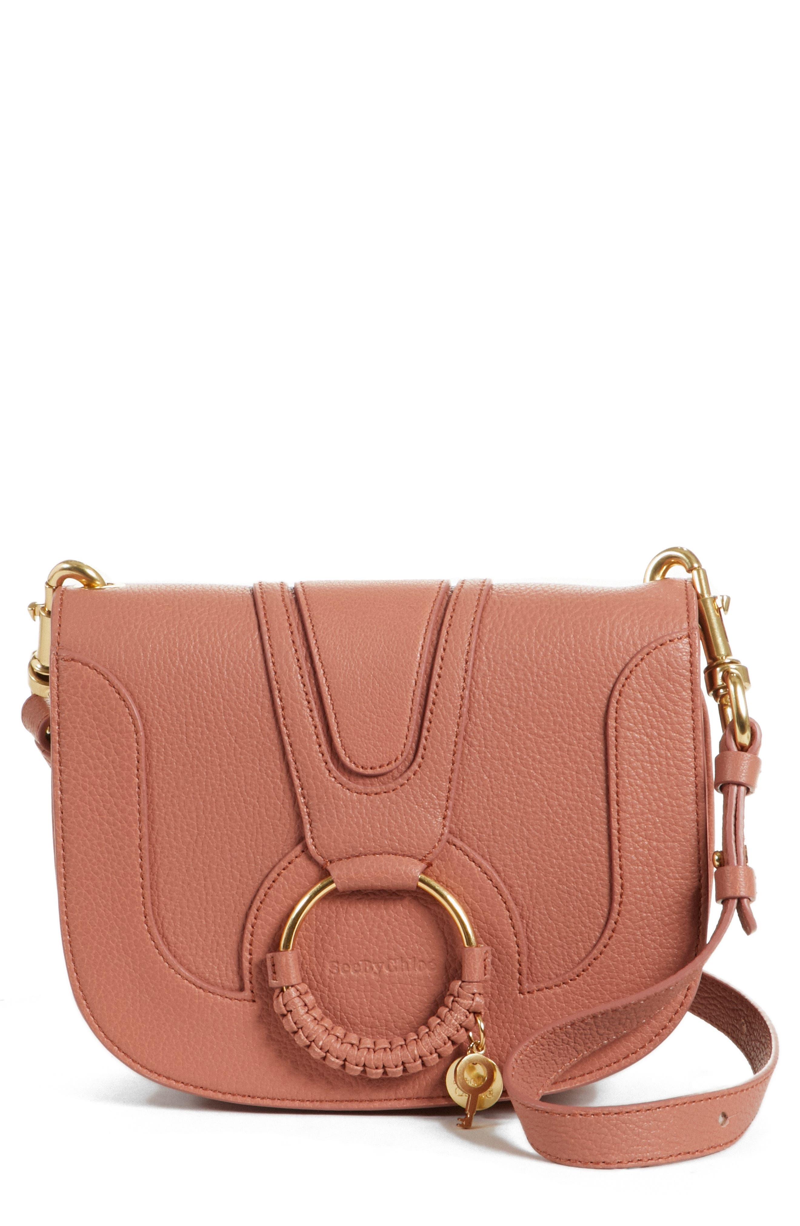 Hana Small Leather Crossbody Bag,                             Main thumbnail 3, color,