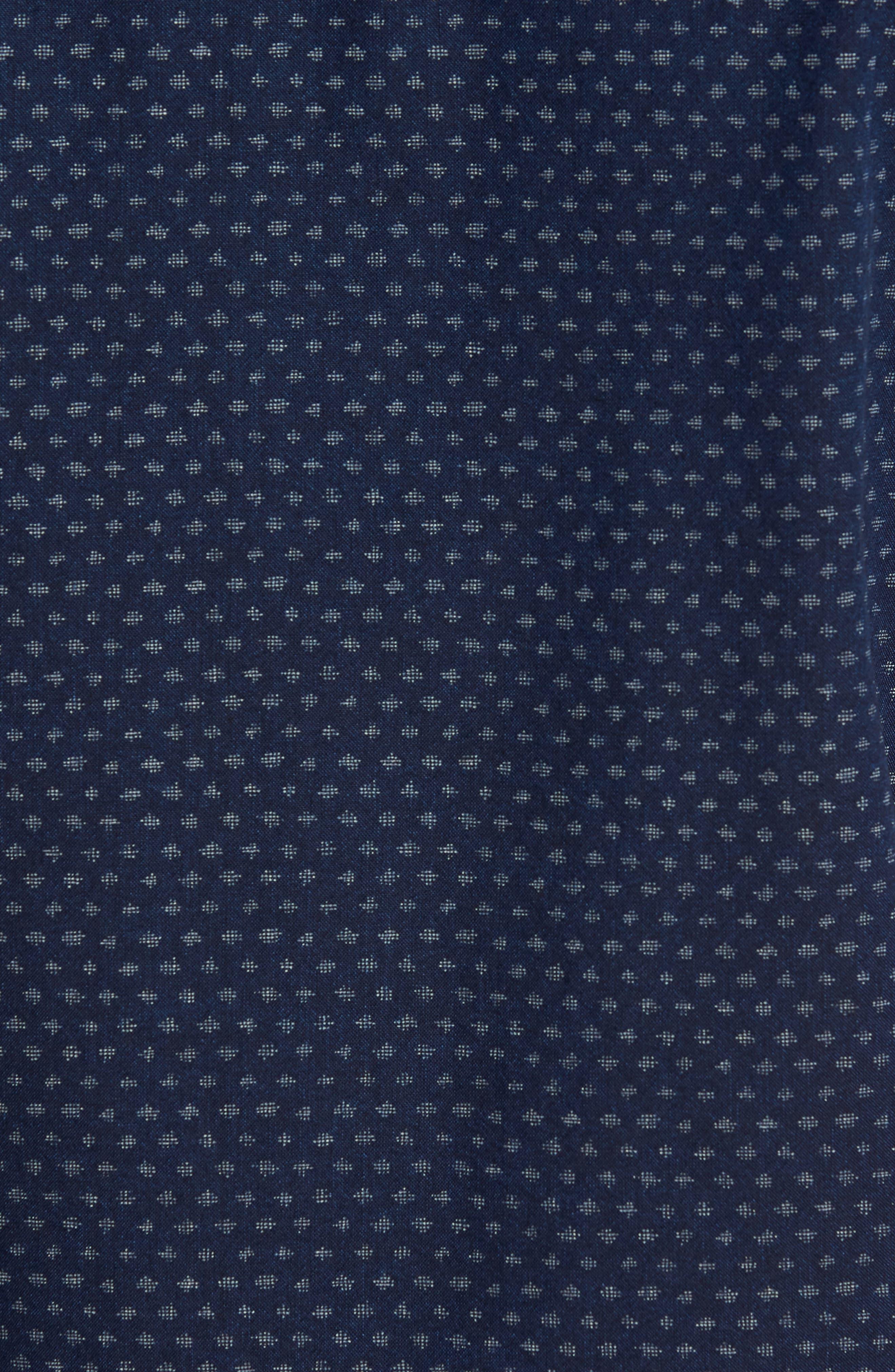 Coast Sport Shirt,                             Alternate thumbnail 5, color,                             INDIGO FLECK